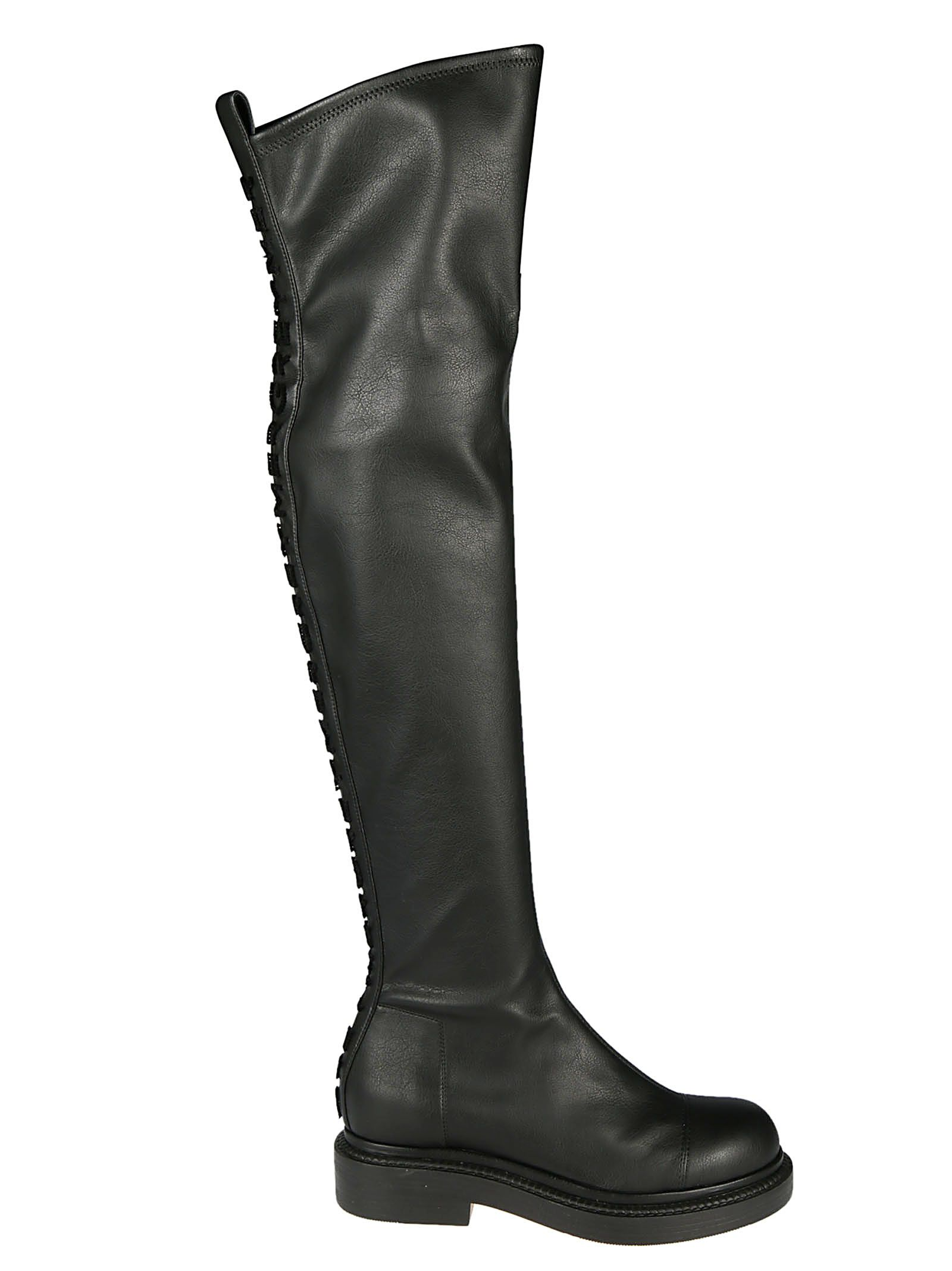 GREY MER Treads Knee-High Boots in Nero
