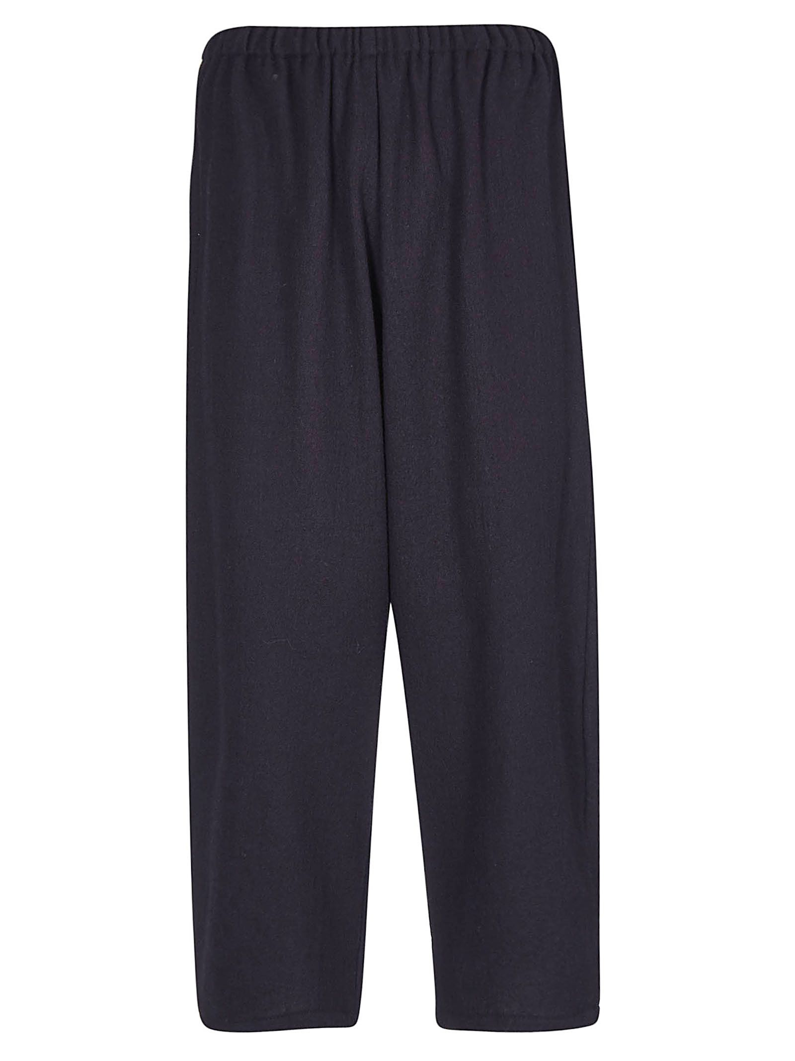 A PUNTO B A.B Elasticated Cropped Trousers in Navy