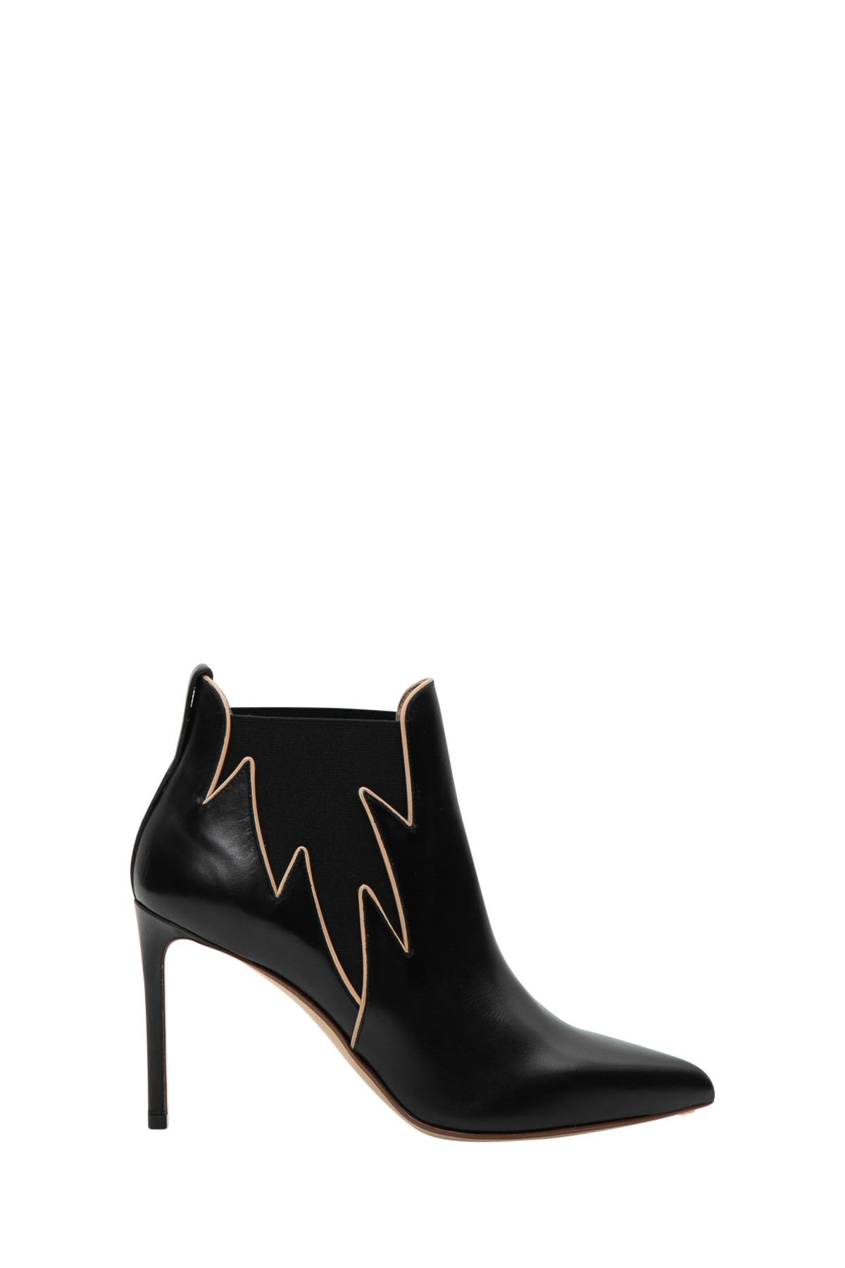 FRANCESCO RUSSO FLAME ANKLE BOOTS