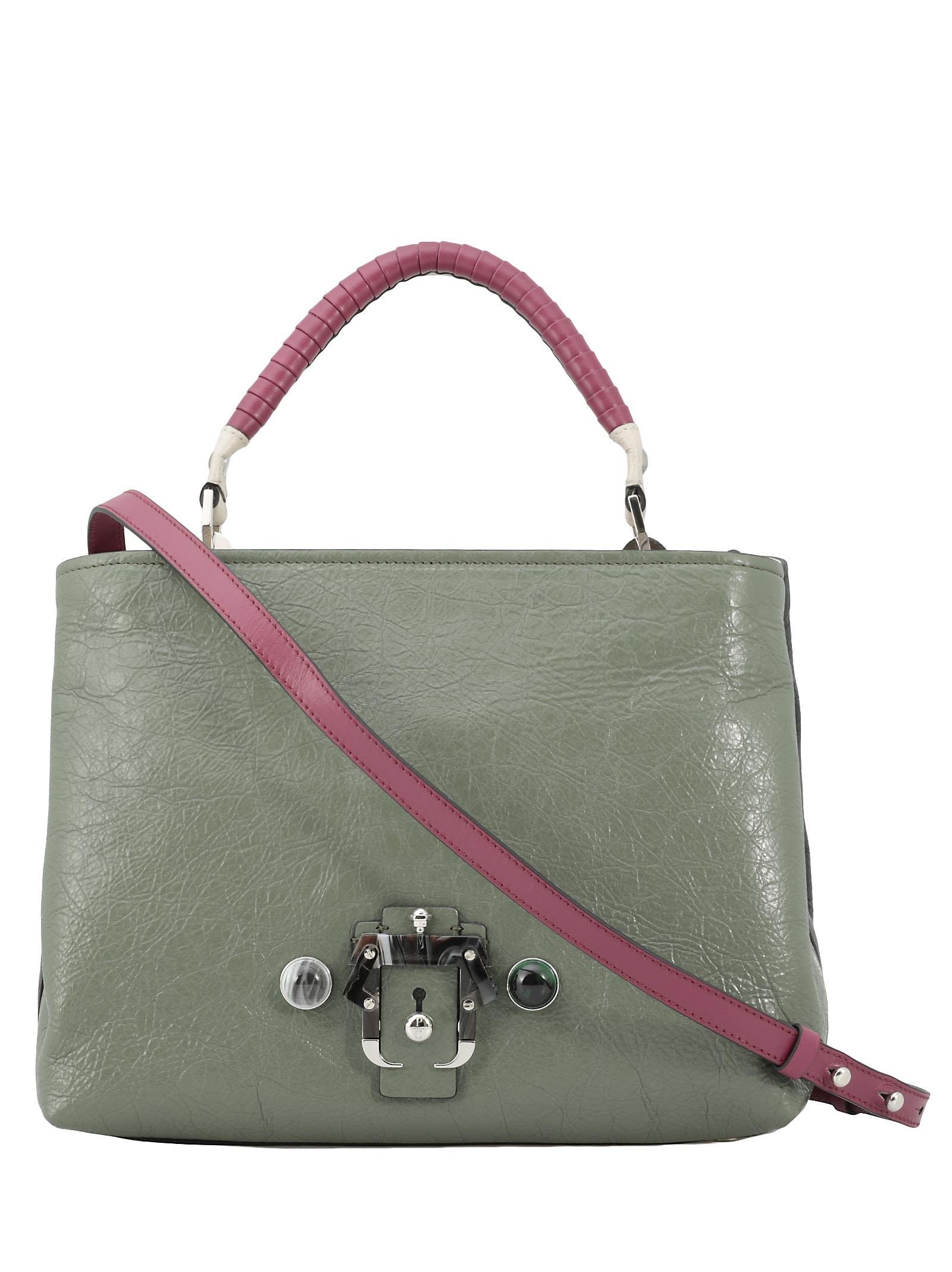 PAULA CADEMARTORI Mae Chic Crease Bag in Green