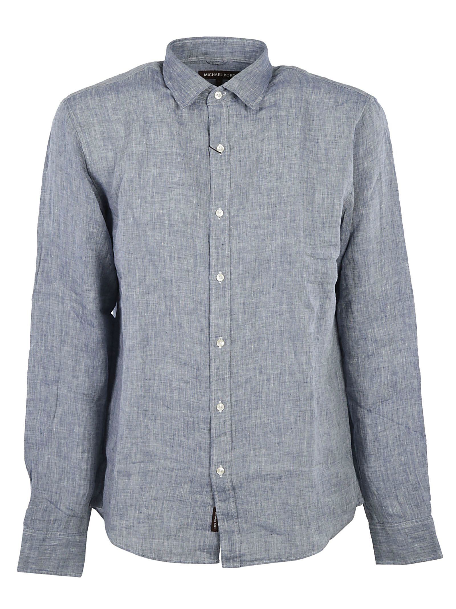 Michael kors michael kors chambray casual shirt denim for Chambray 7 s