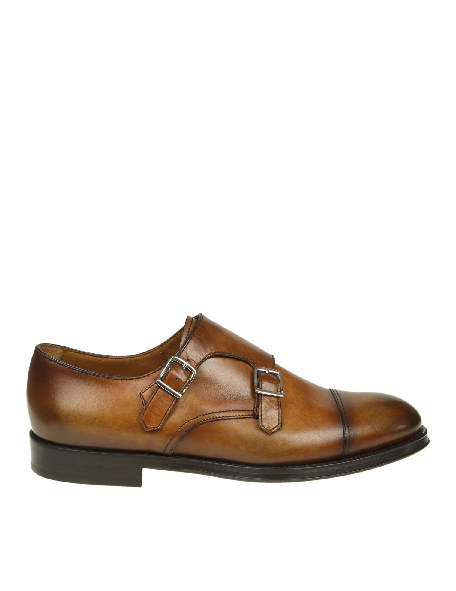 DOUCALS SHOE WITH DOUBLE BUCKLE LEATHER COLOR LEATHER