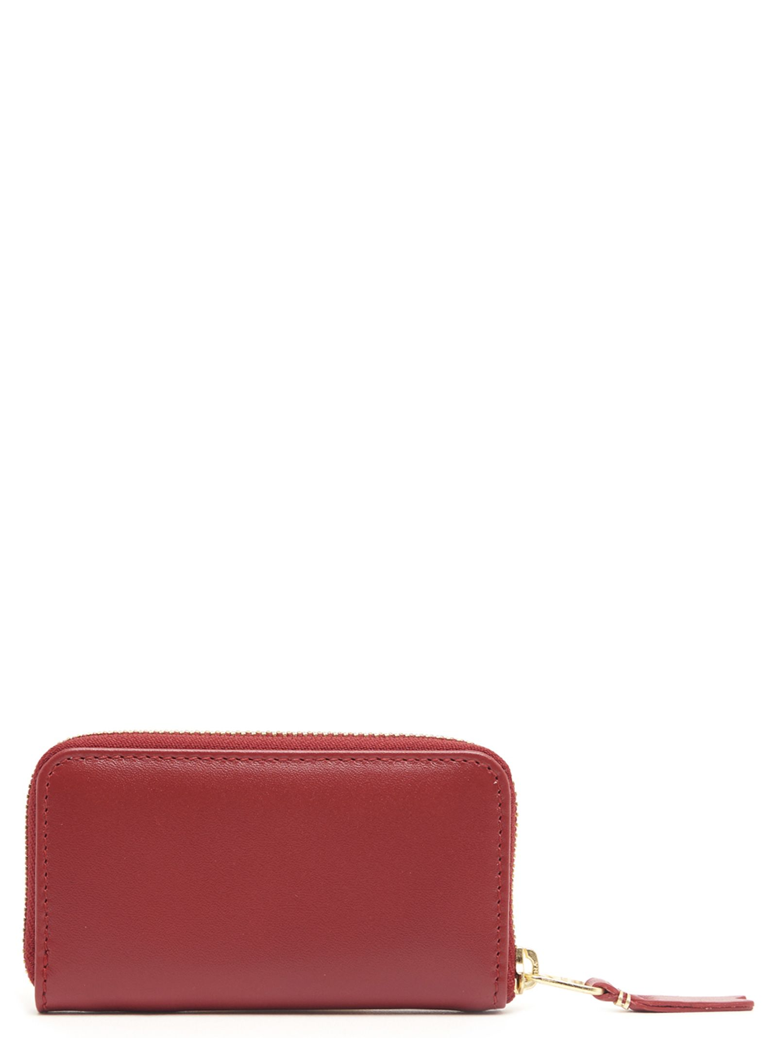 Comme Des Garçons Classic Leather Line Zipped Wallet in Red