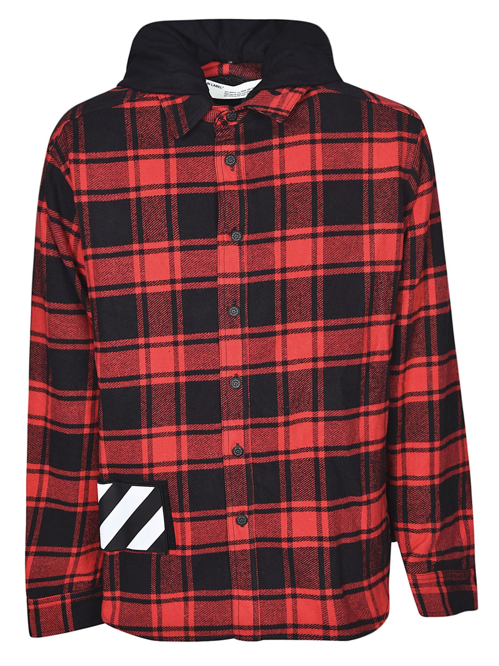 OFF-WHITE CHECKED FLANNEL JACKET