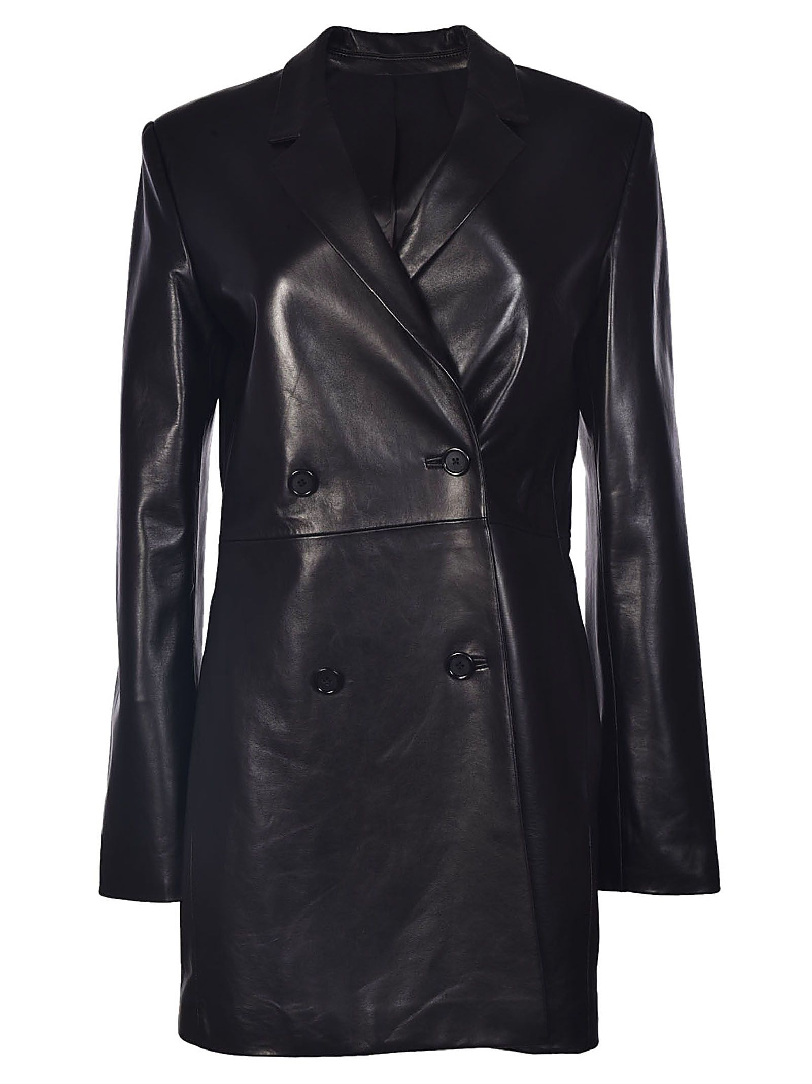 helmut lang -  Leather Coat