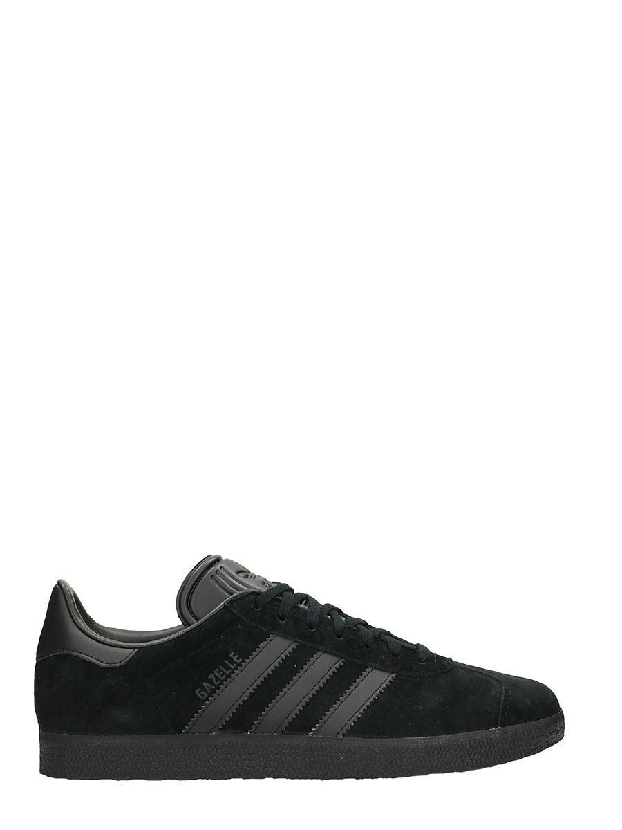 Adidas Gazzelle Black Suede Sneakers 10497952