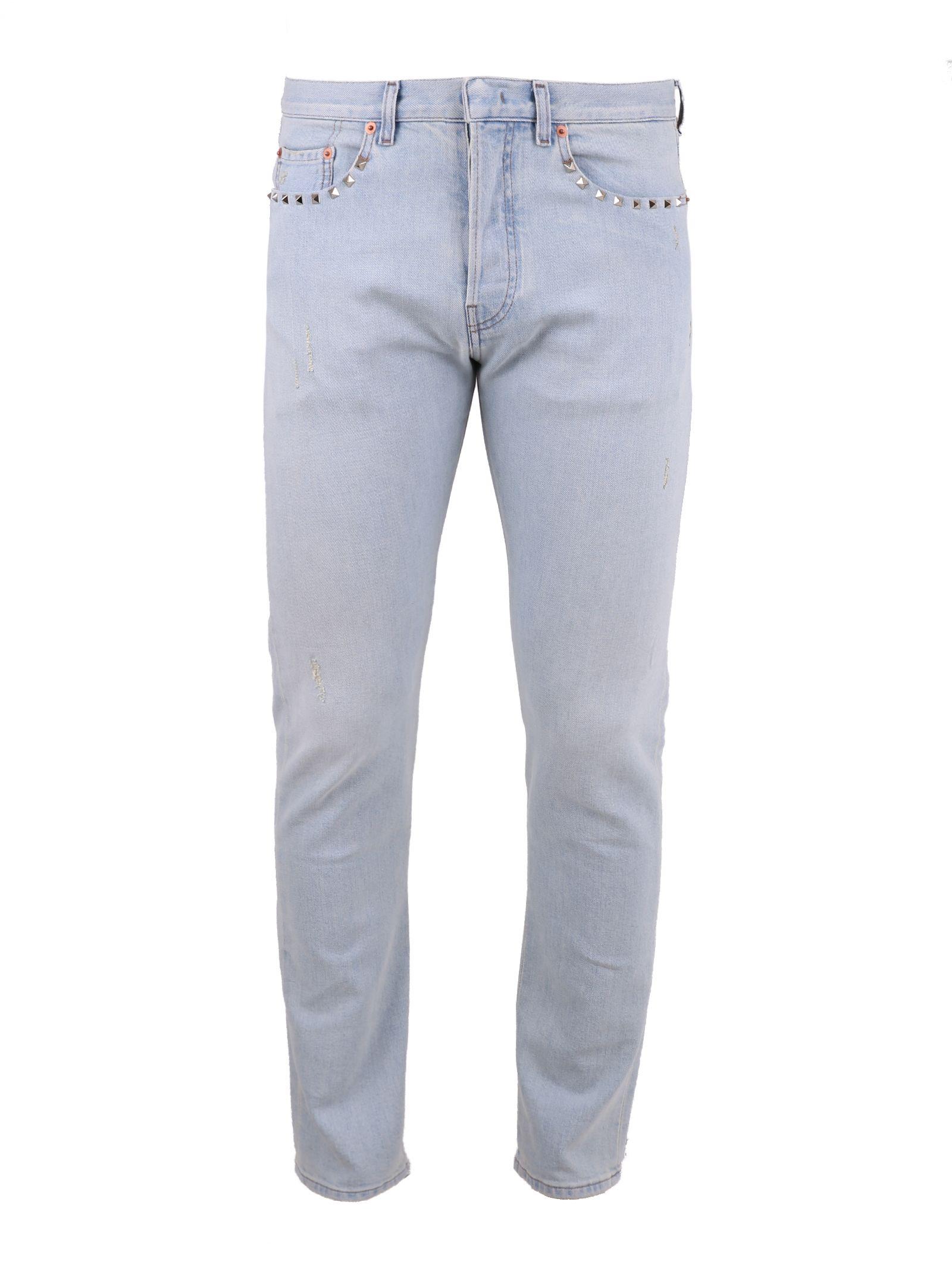 Studded Denim Jeans 10540667