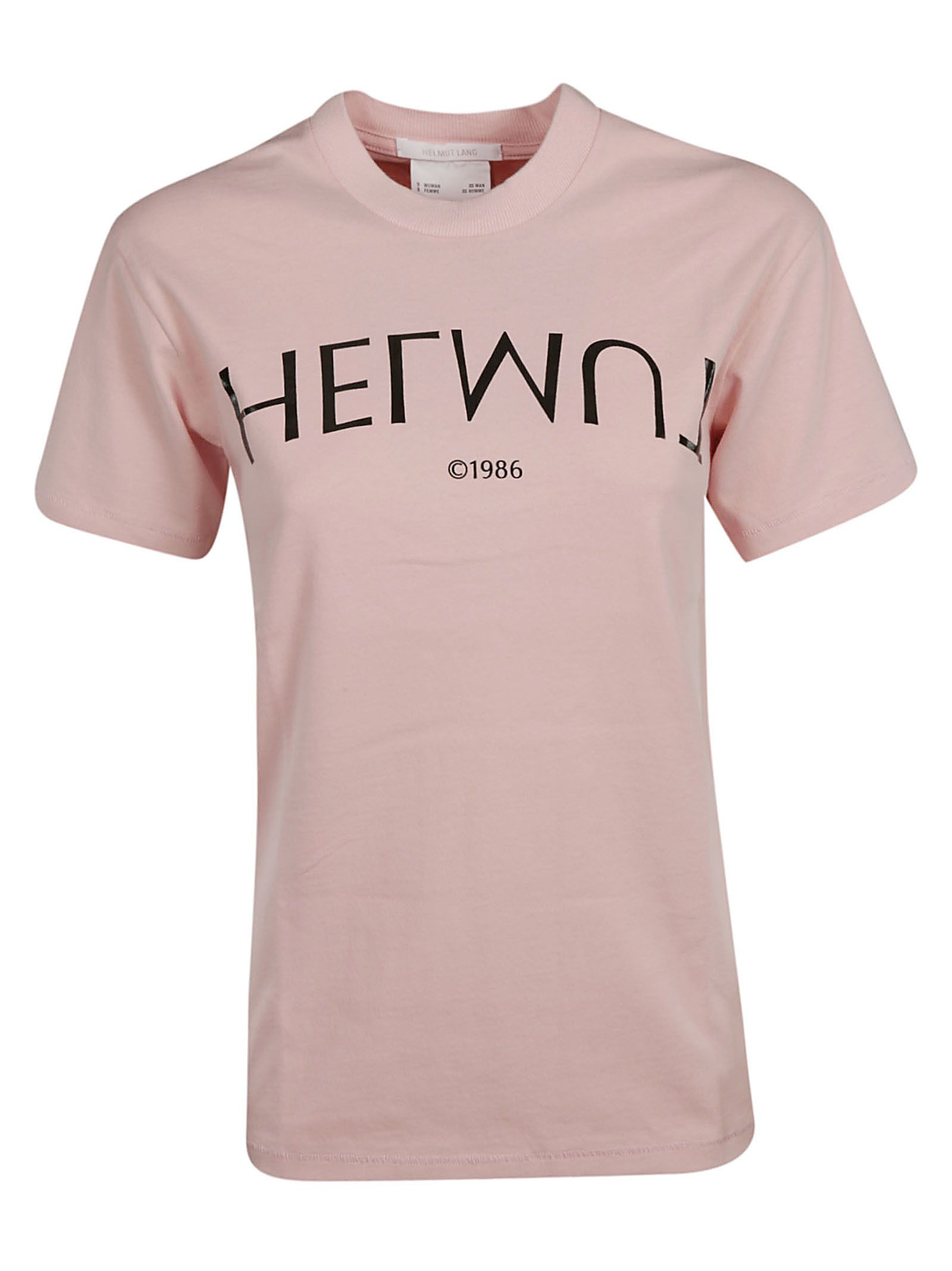 Logo Hack Tee Crew Neck T-Shirt in Pink