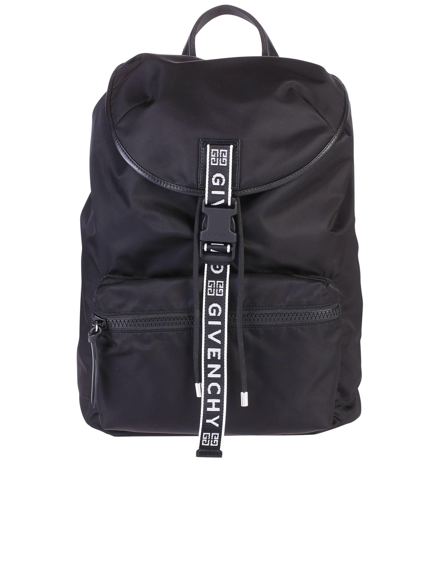 GIVENCHY BLACK BRANDED BACKPACK  ecb110d715cba