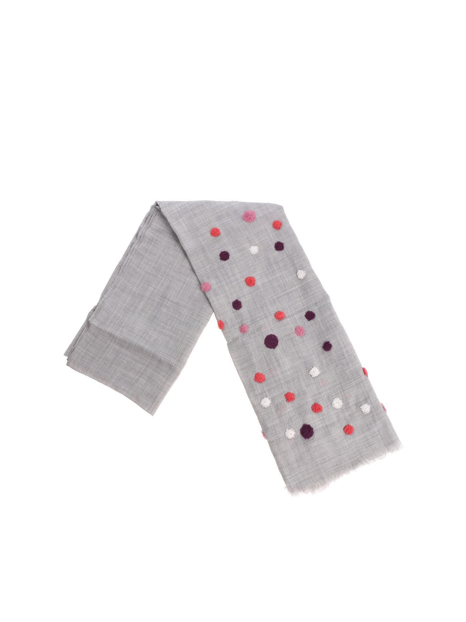 ALTEA Polka Dots Scarf in Grey