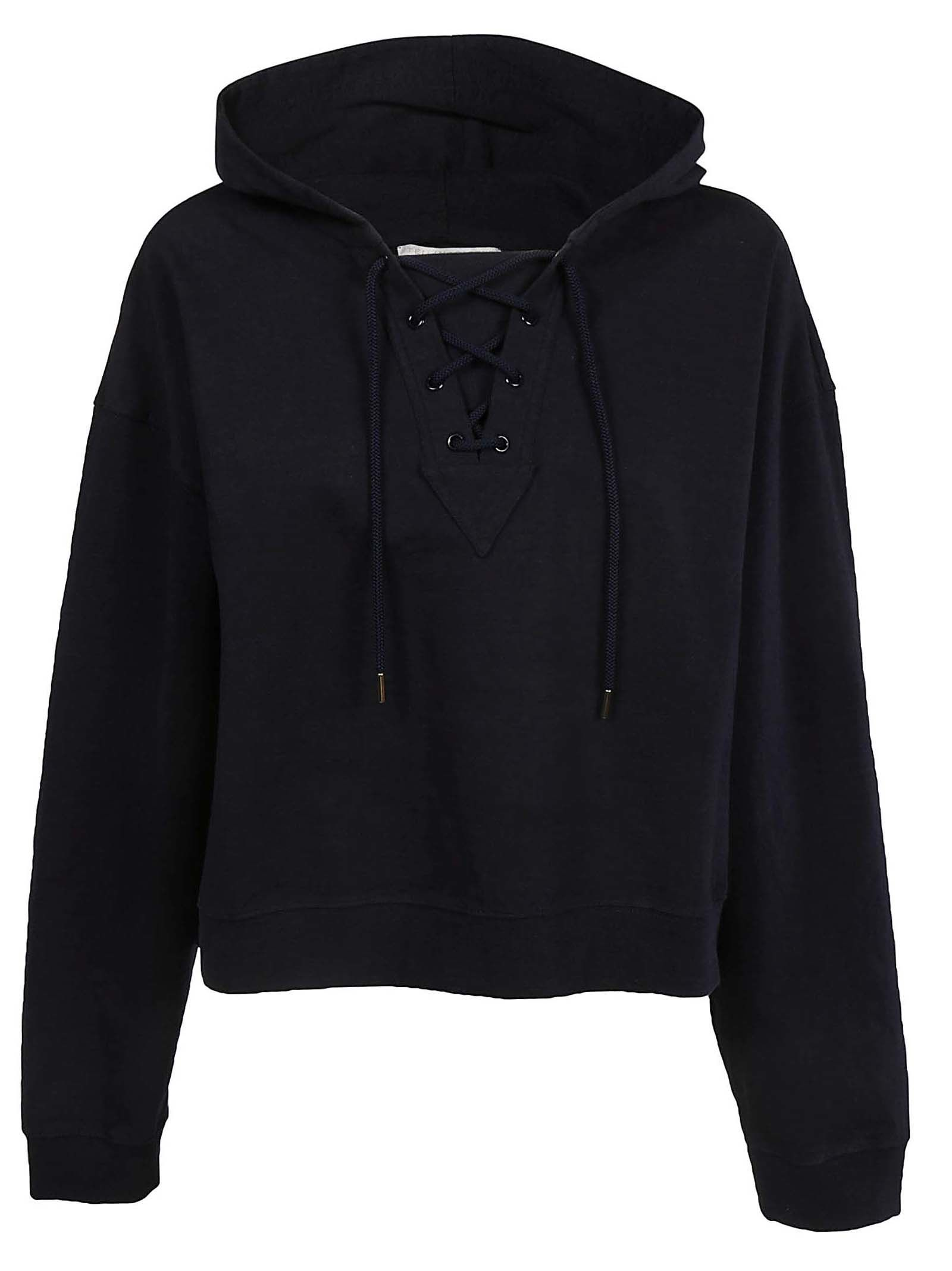 REAR LOGO CROPPED HOODIE from Italist.com