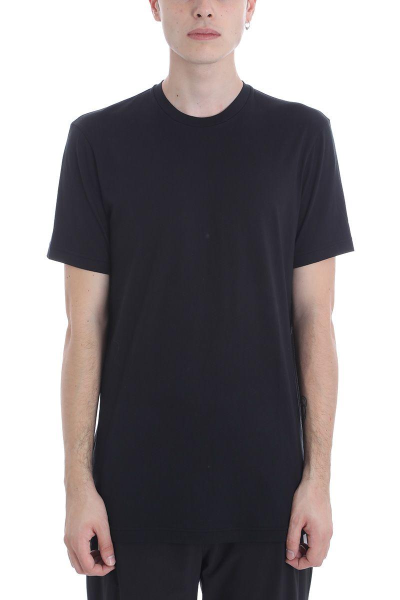 BLACKBARRETT Black Cotton T-Shirt