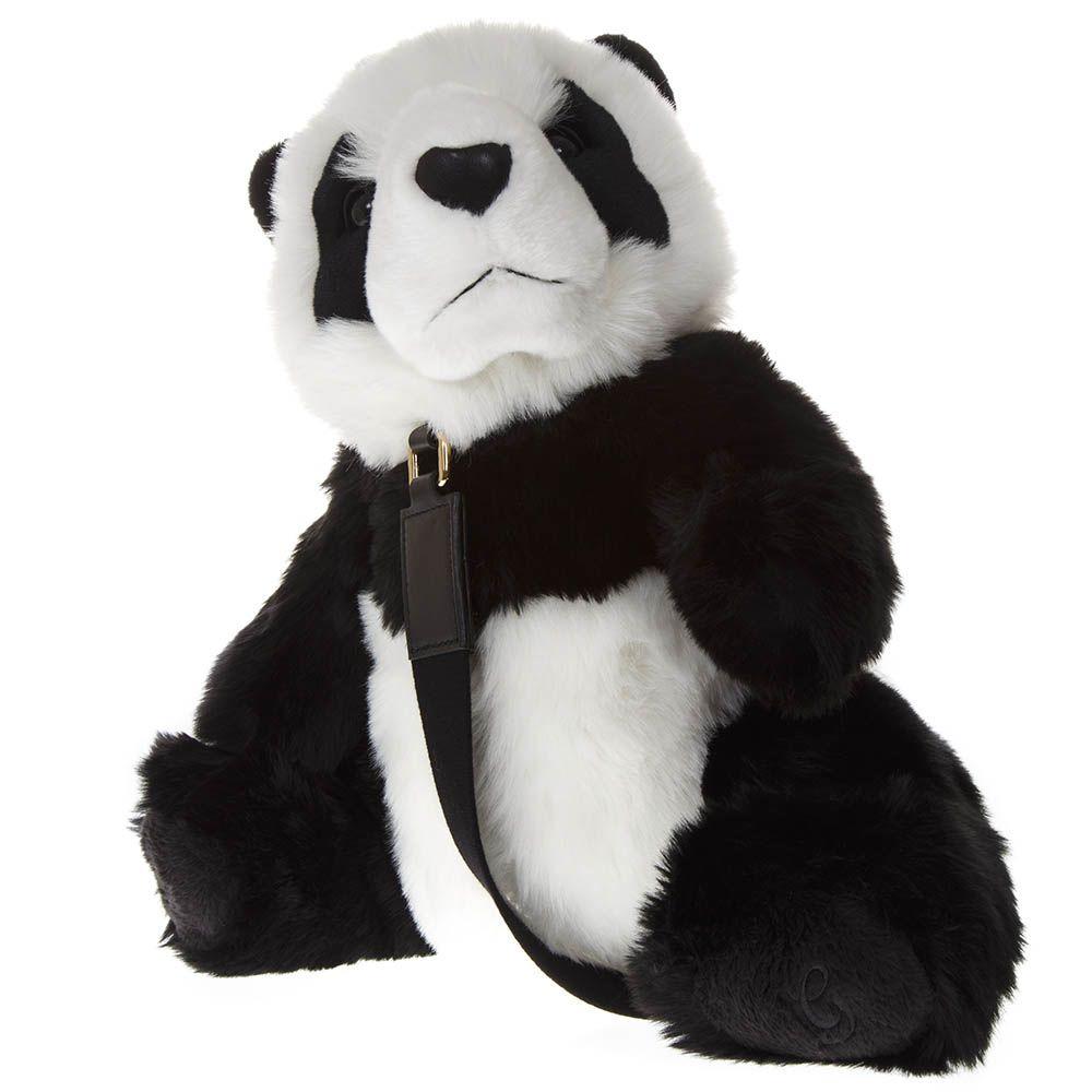 Dolce & Gabbana Panda Backpack In White And Black Eco-Fur in Black/White