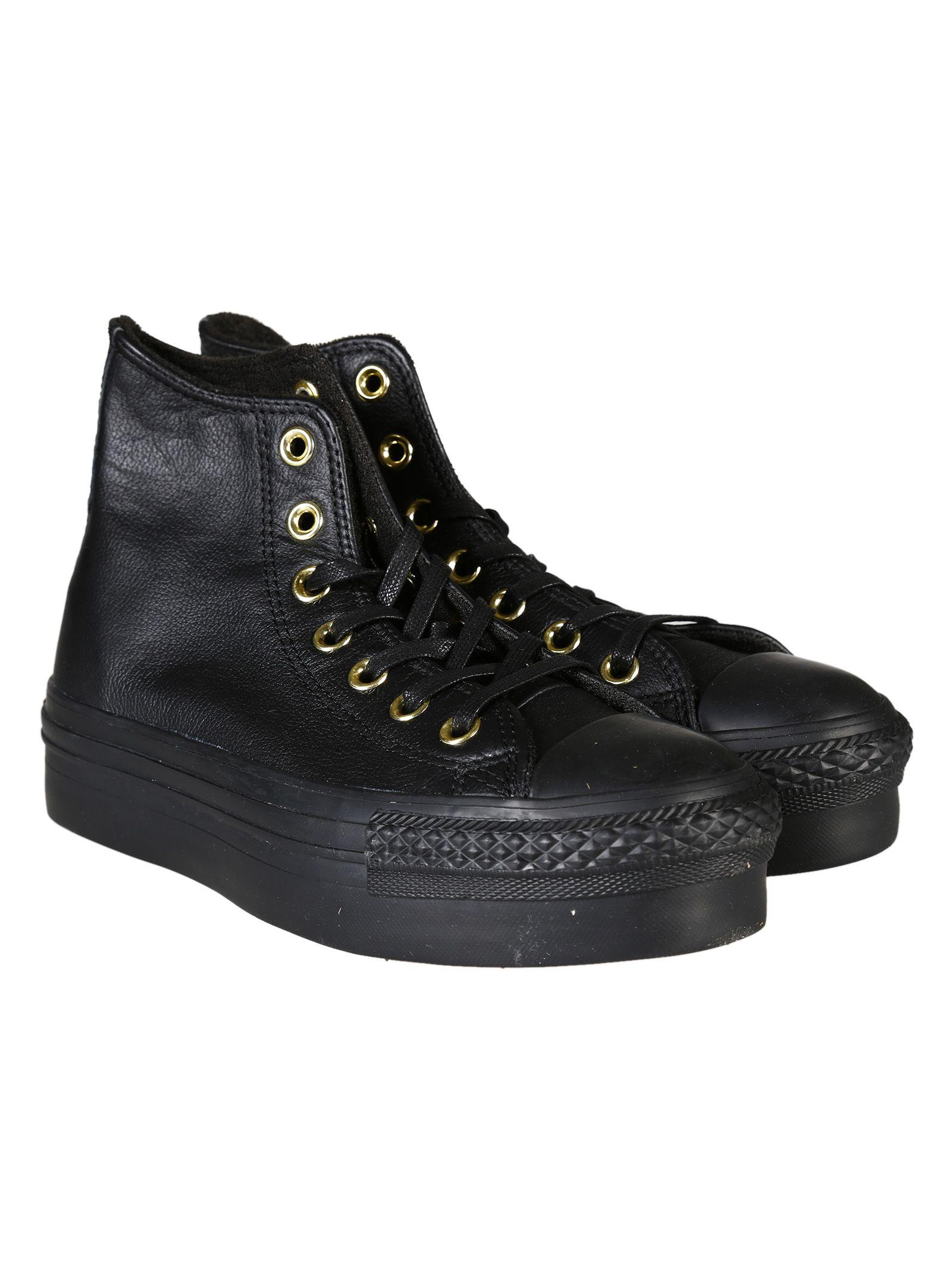 converse hi platform leather