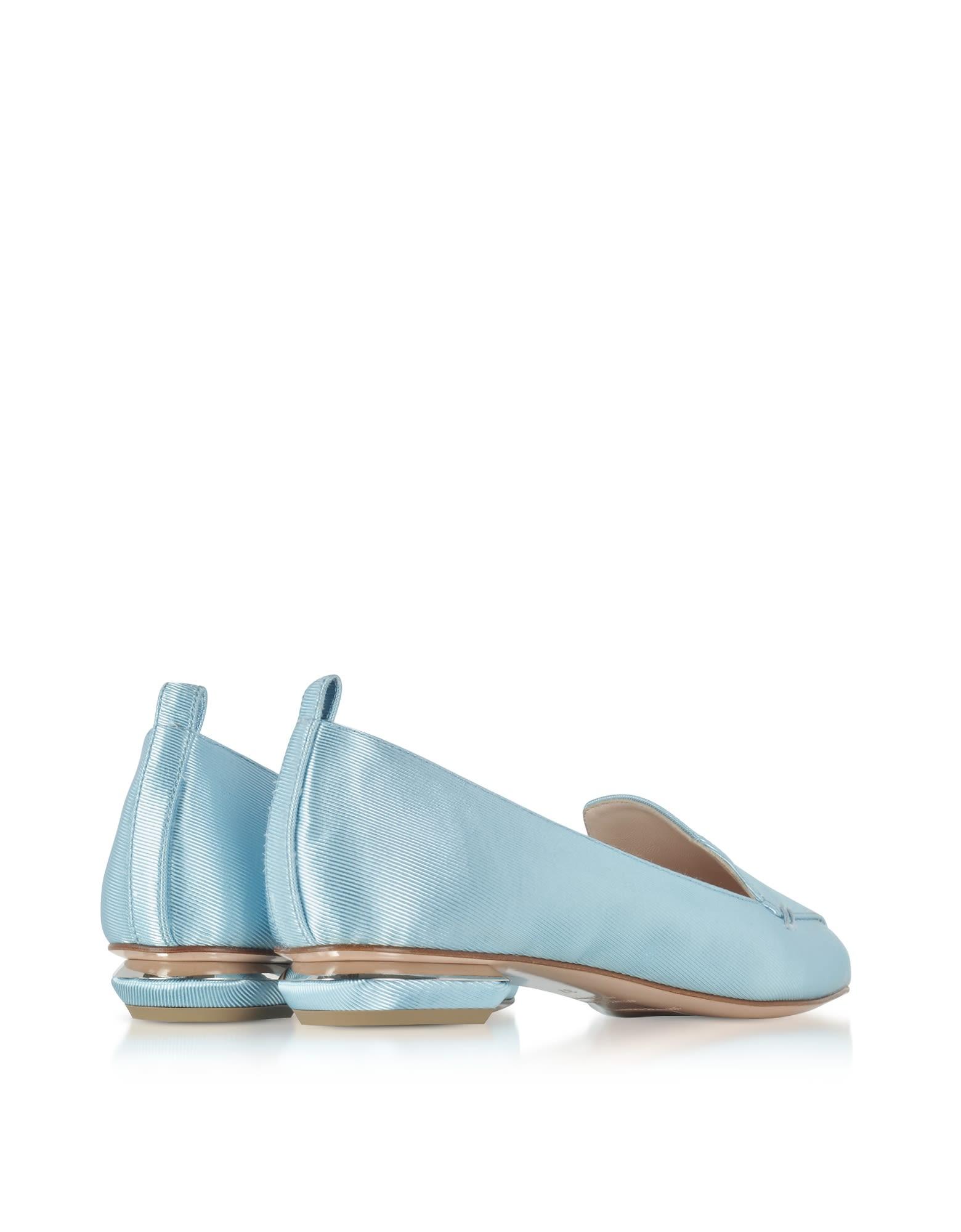 Nicholas Kirkwood Blue Satin Beya Loafers NLyblDz3vz