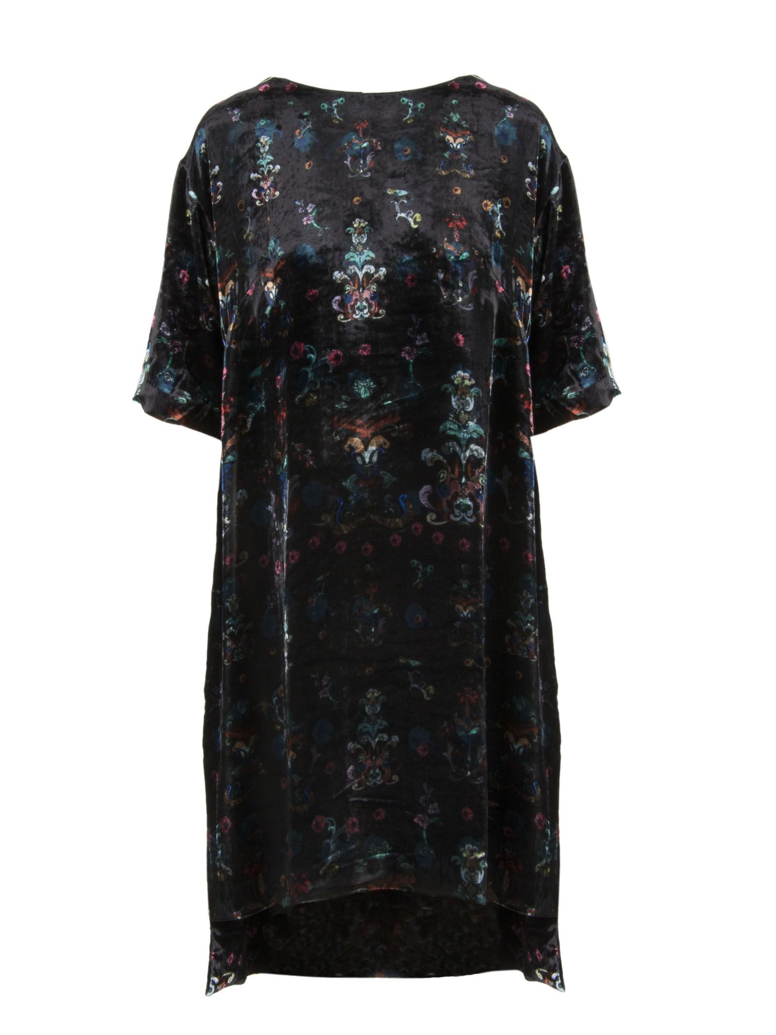AILANTO Floral Print Dress in Black