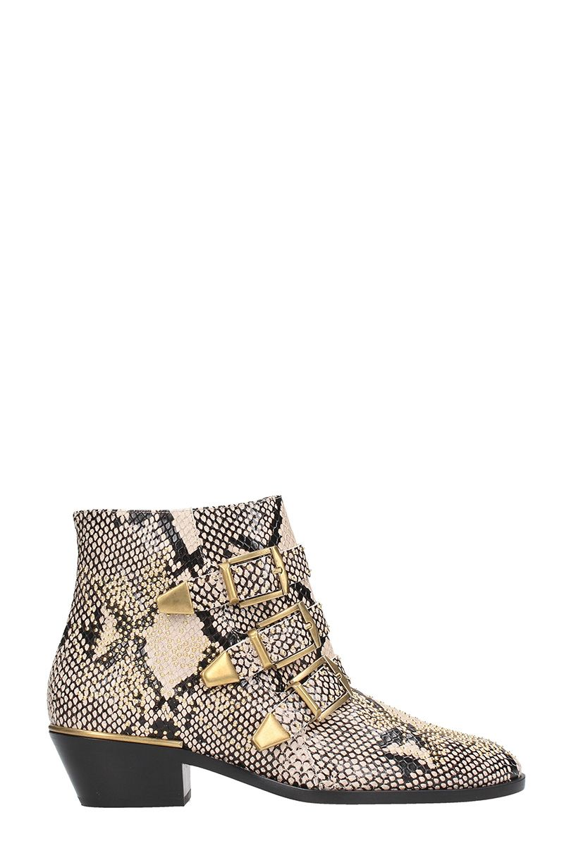 chloé -  Susanna Snake Leather Boots