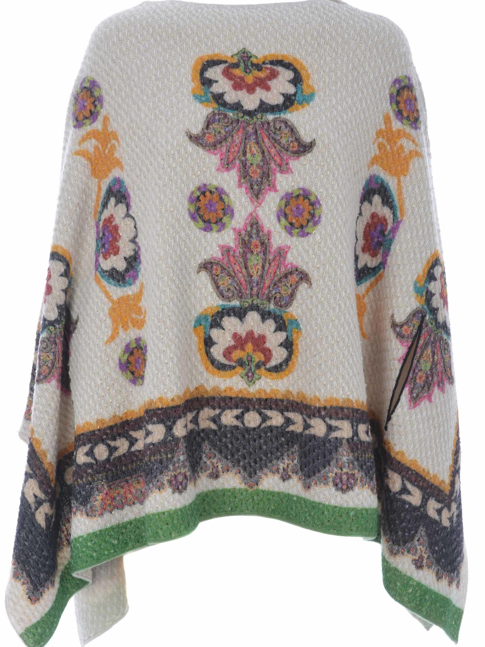 Etro Knitted Print Cape