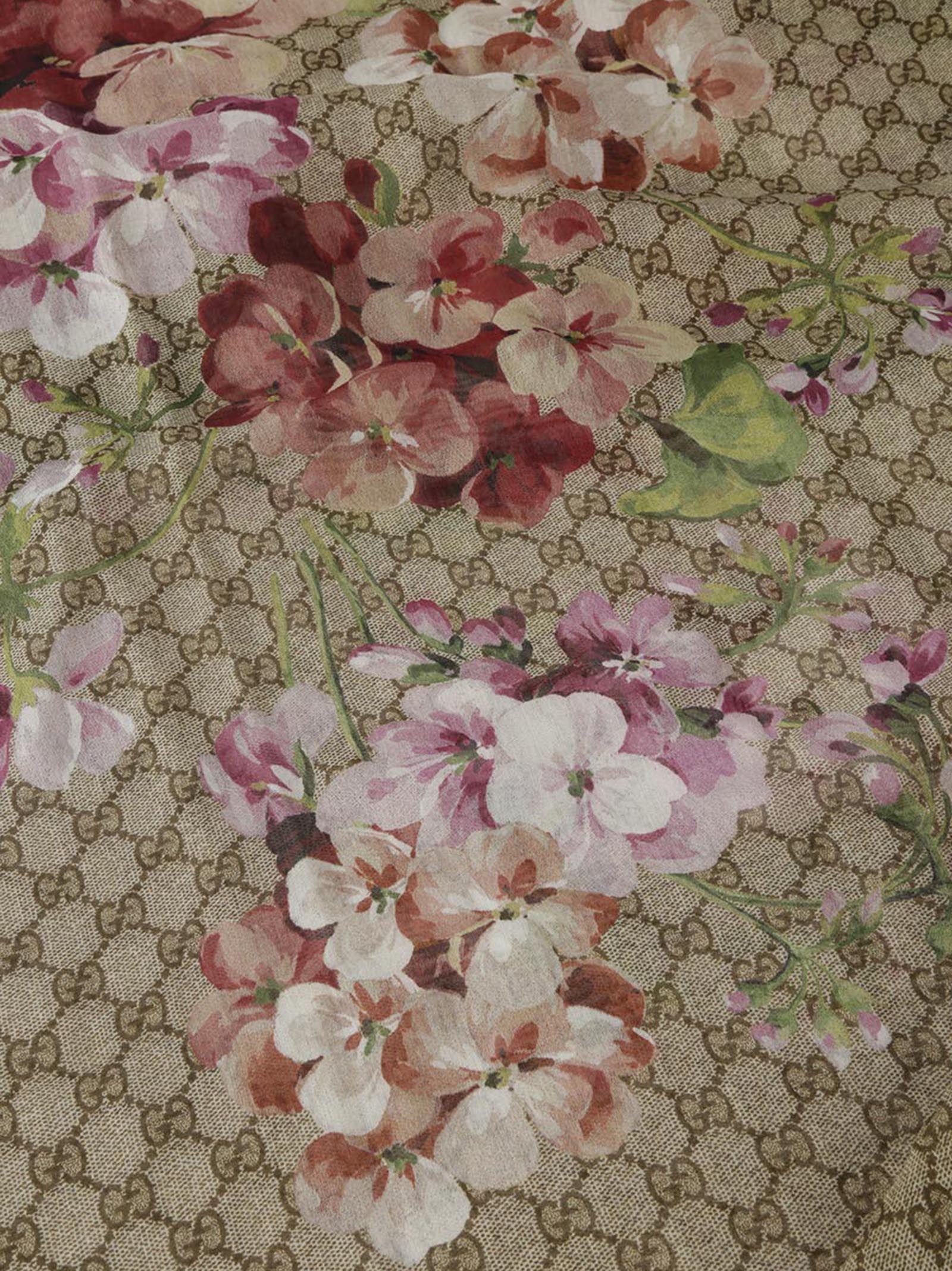 Gucci blooms supreme shawl scarf green 5601198 italist gucci blooms supreme shawl scarf green mightylinksfo