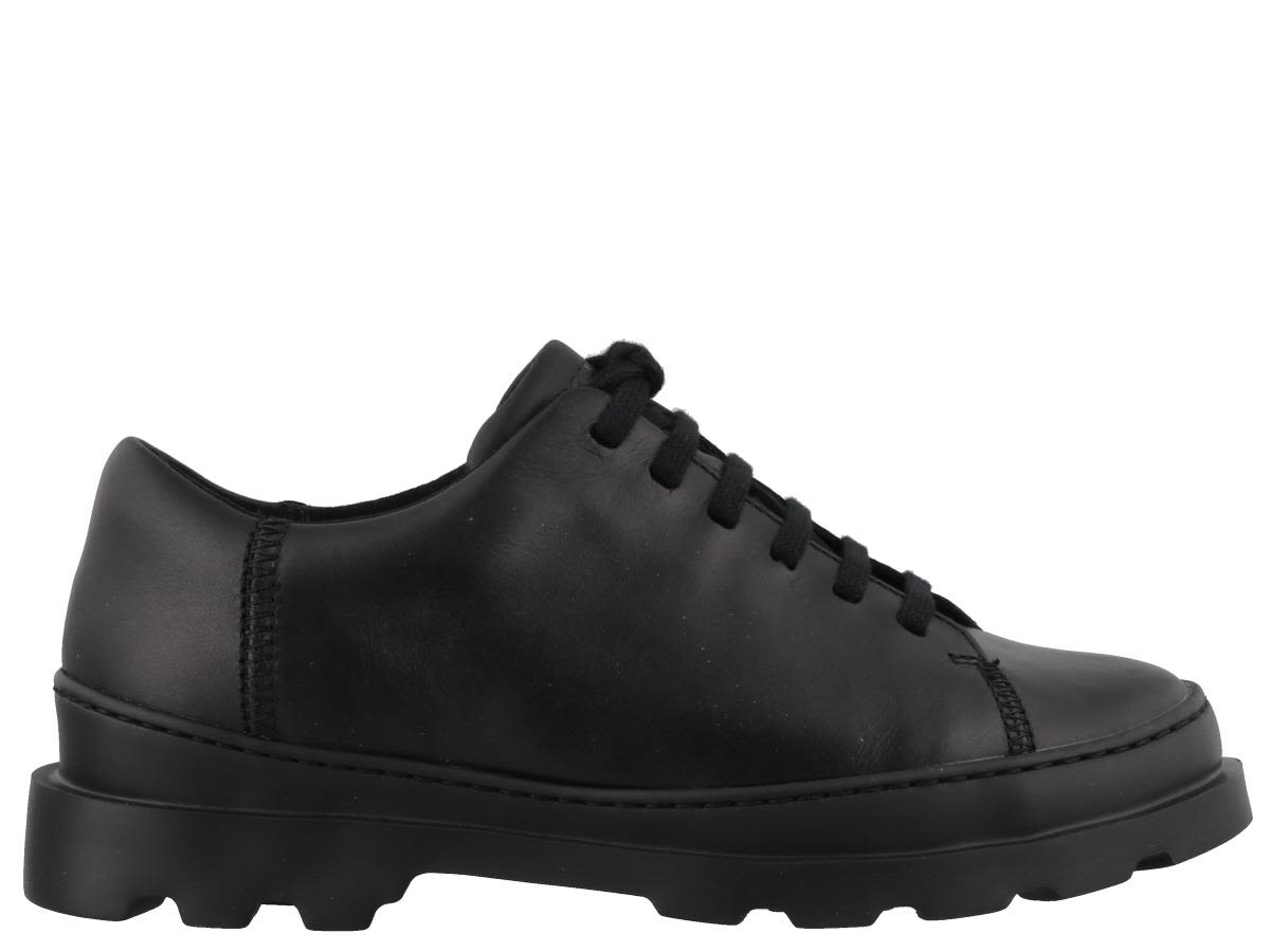 CAMPER Brutus Lace-Up Shoes in Black Leather