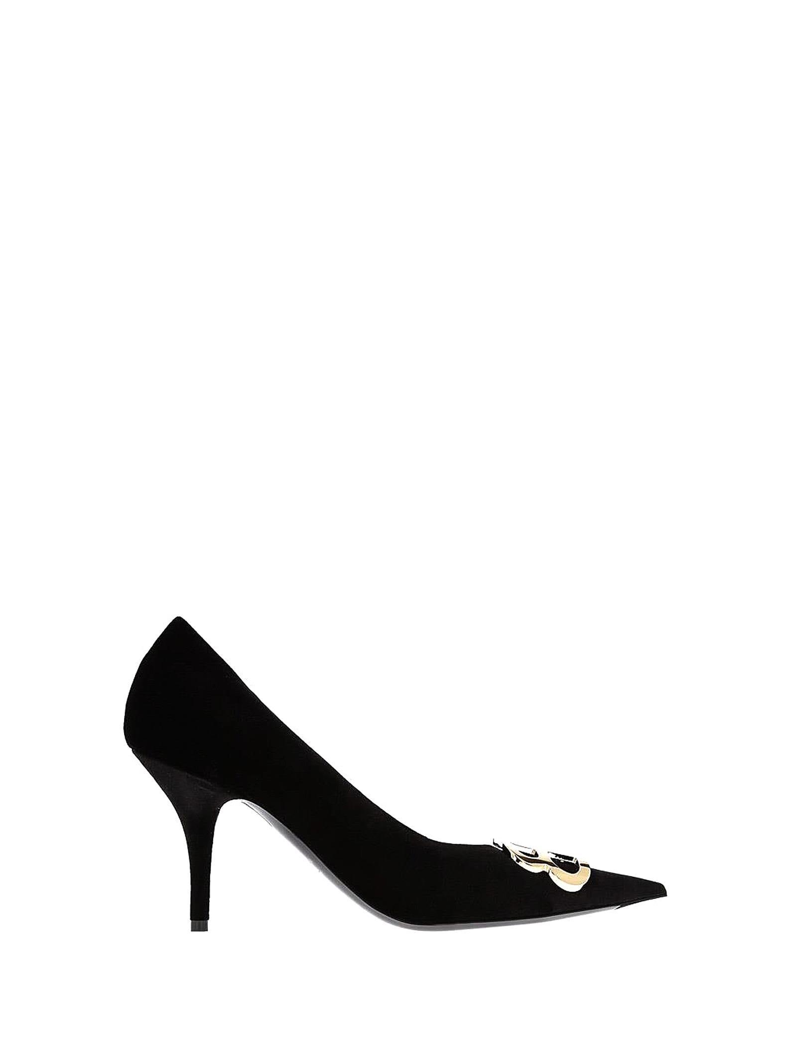 b4ea6a48bb0 Balenciaga Bb Black Velvet Pumps In Noir