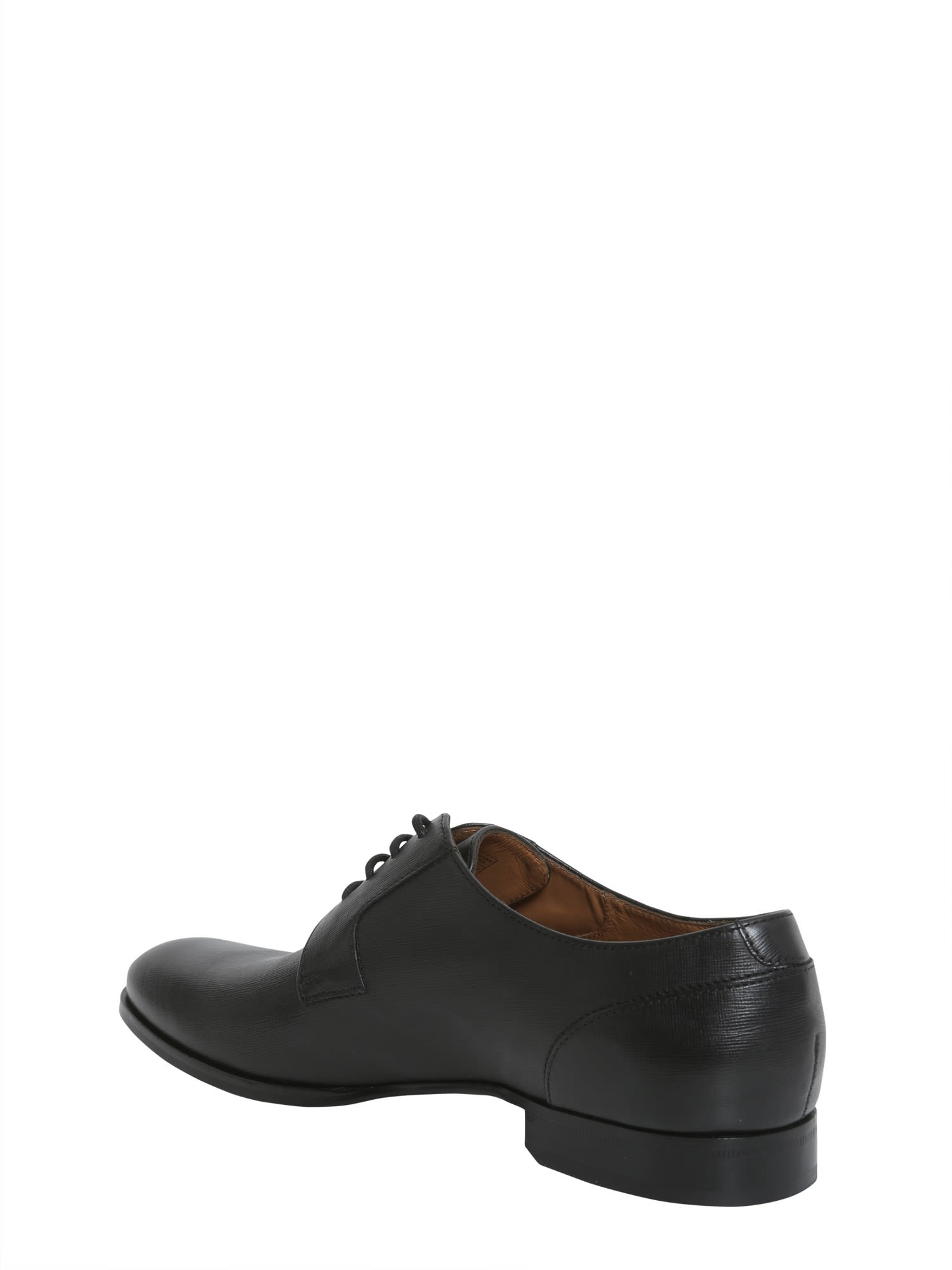 HUGO BOSS Saffiano leather derby shoes Z9DyKFpfD