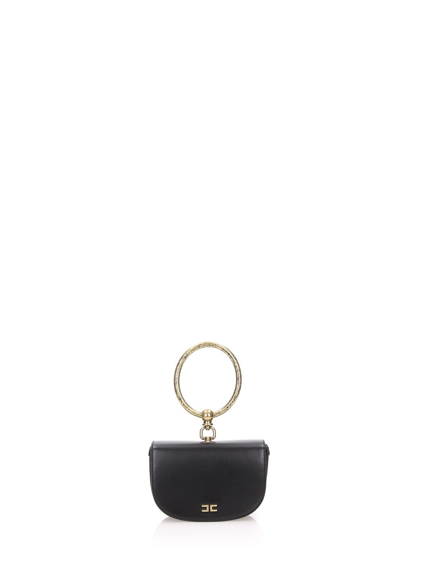 Ring Handle Bag in Black