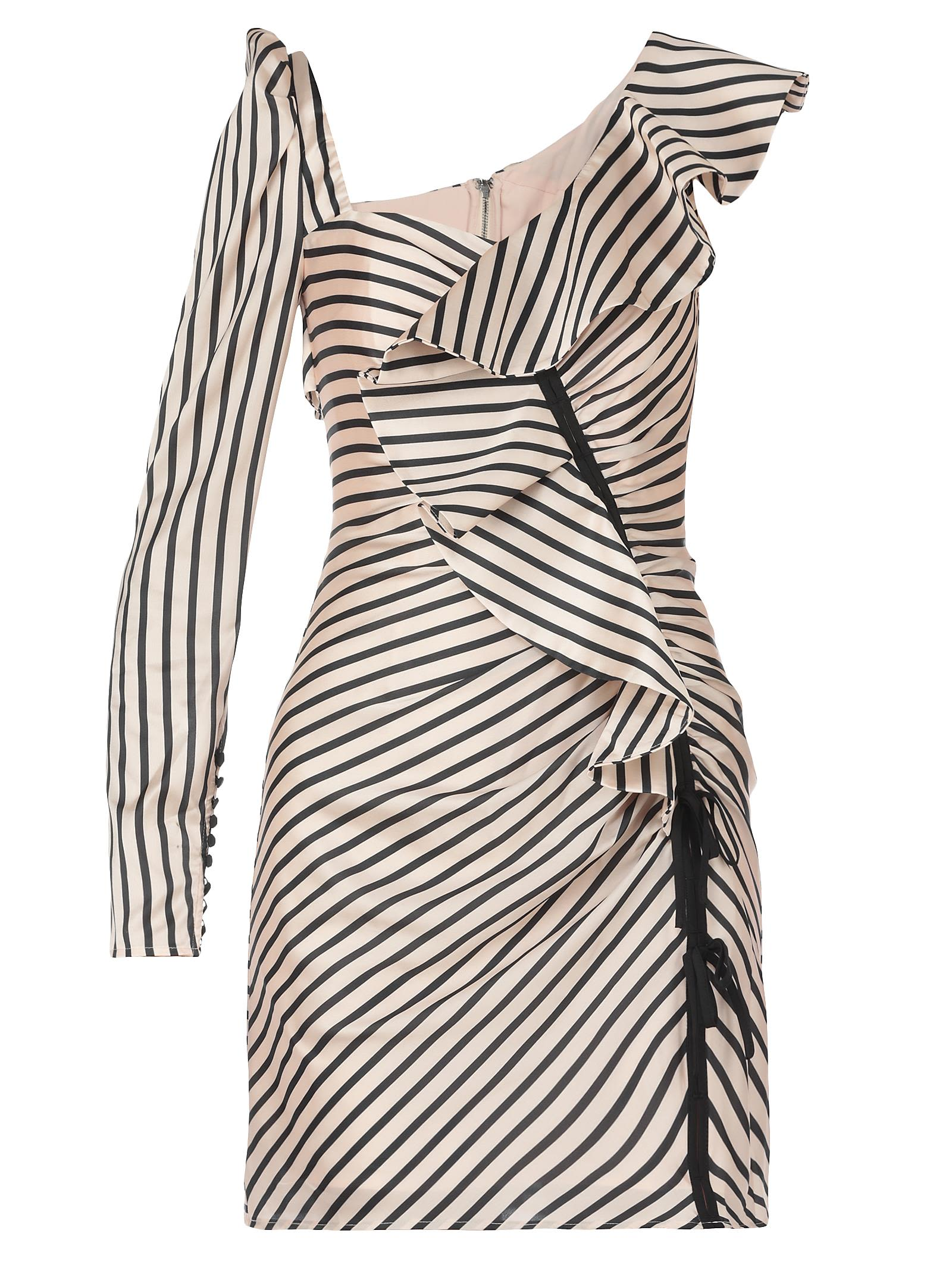 SELF-PORTRAIT STRIPED DRESS
