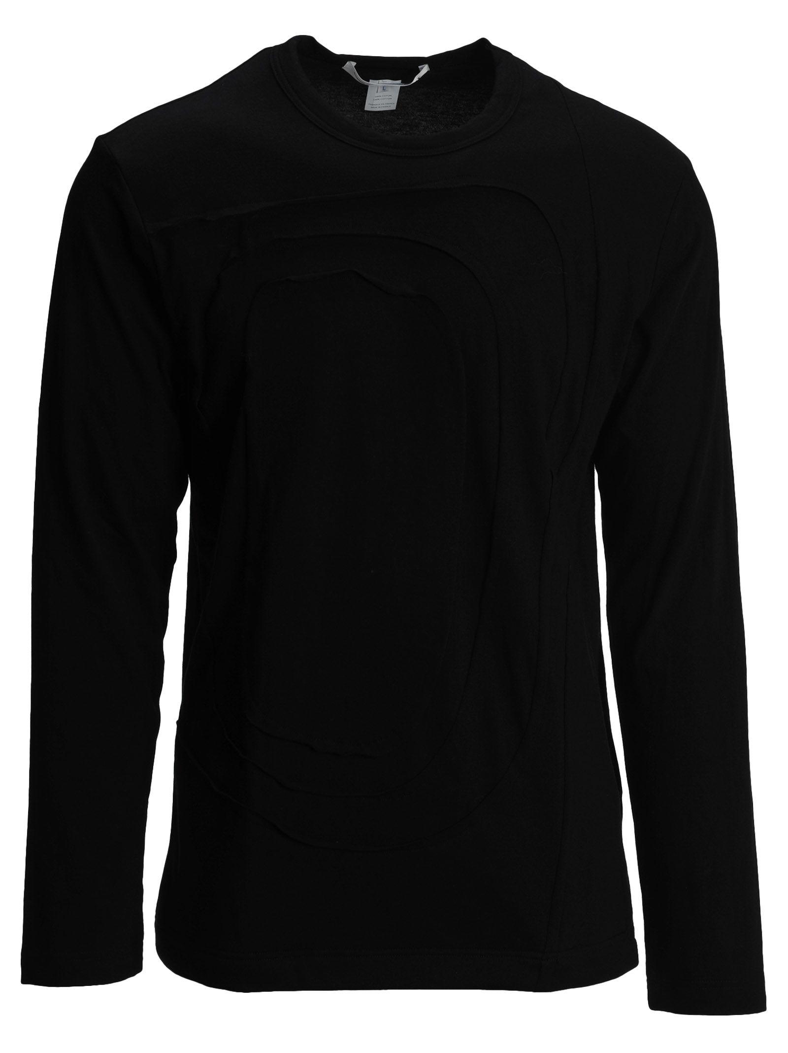 COMME DES GARÇONS BOYS Comme Des Garçons Boy Tshirt Ml Intarsia in Black