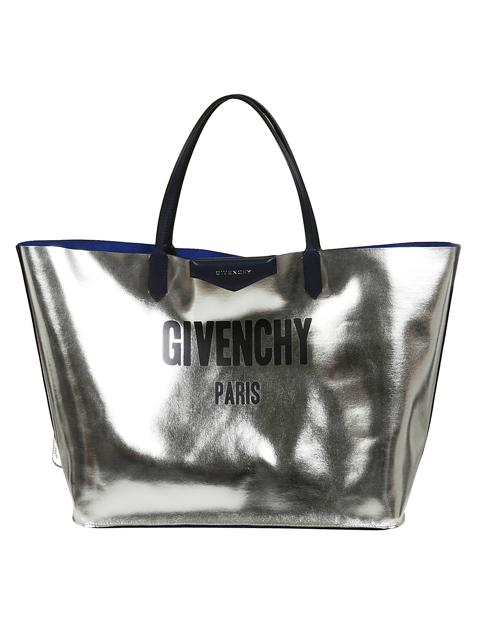 Givenchy Logo Reversible Metallic Shopper Bag  37d779b44469c