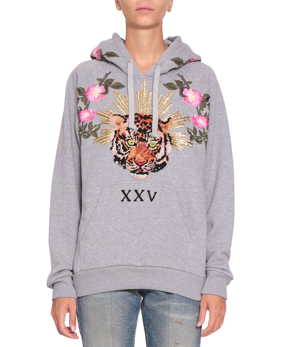 Gucci Embroidered Hooded Sweatshirt ...