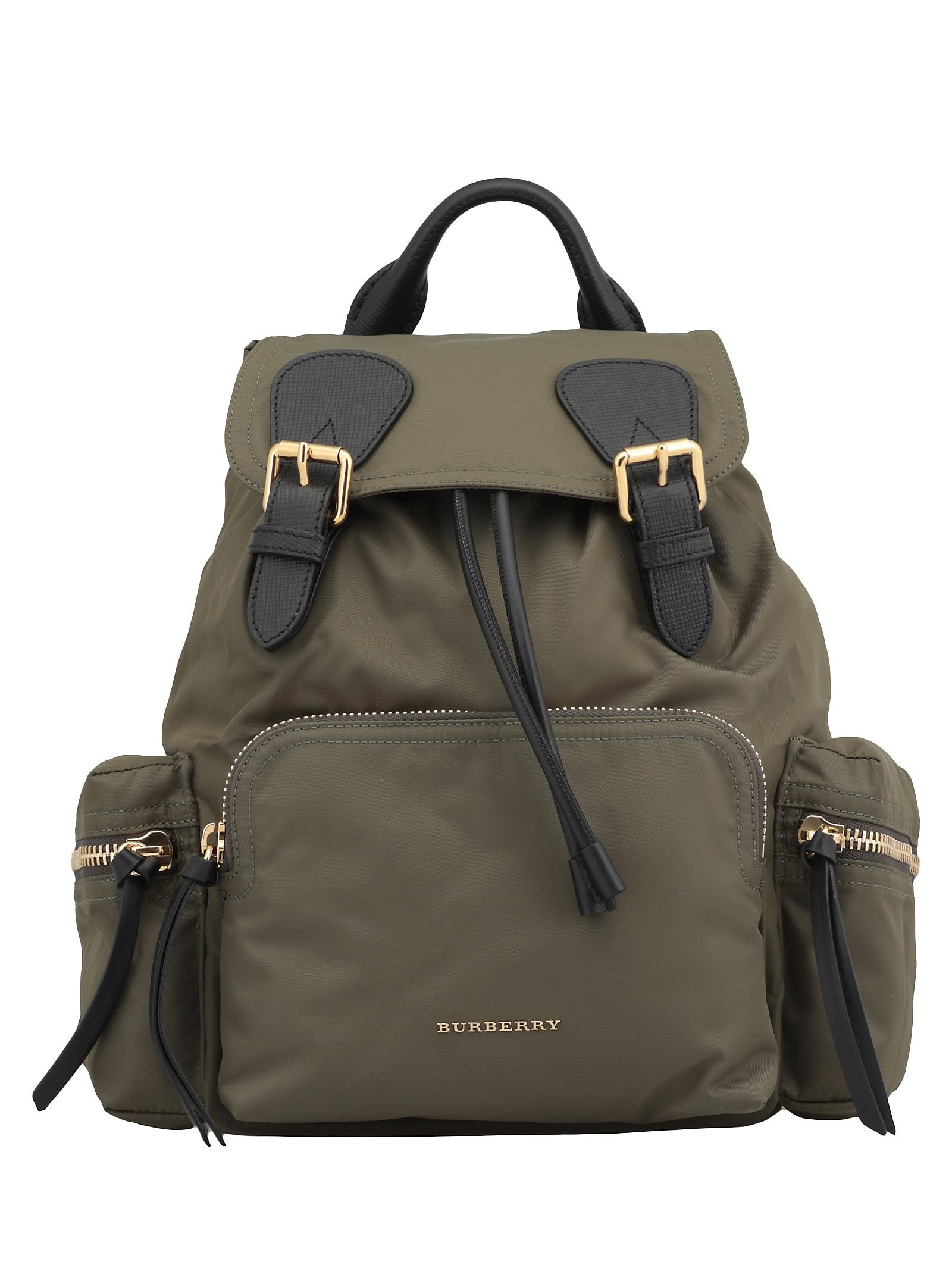 Burberry Rucksack Medium Backpack In Canvas Green  5507001dd36b1