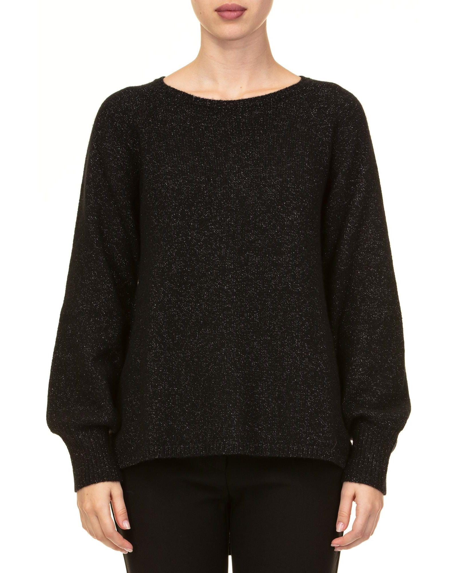 KANGRA Wool Blend And Lurex Sweater in Black