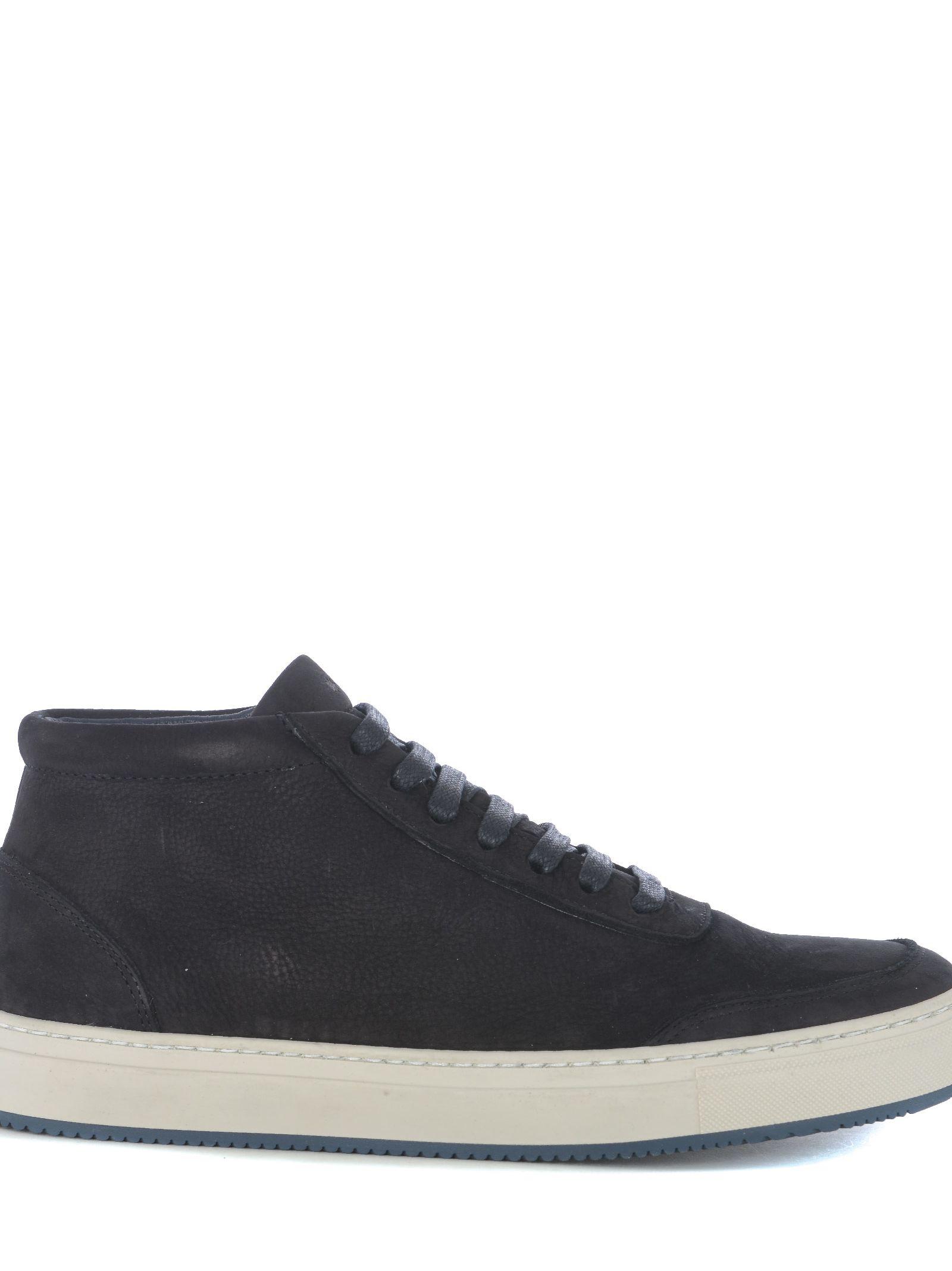 ANDREA ZORI Hi-Top Sneakers in Blu Notte