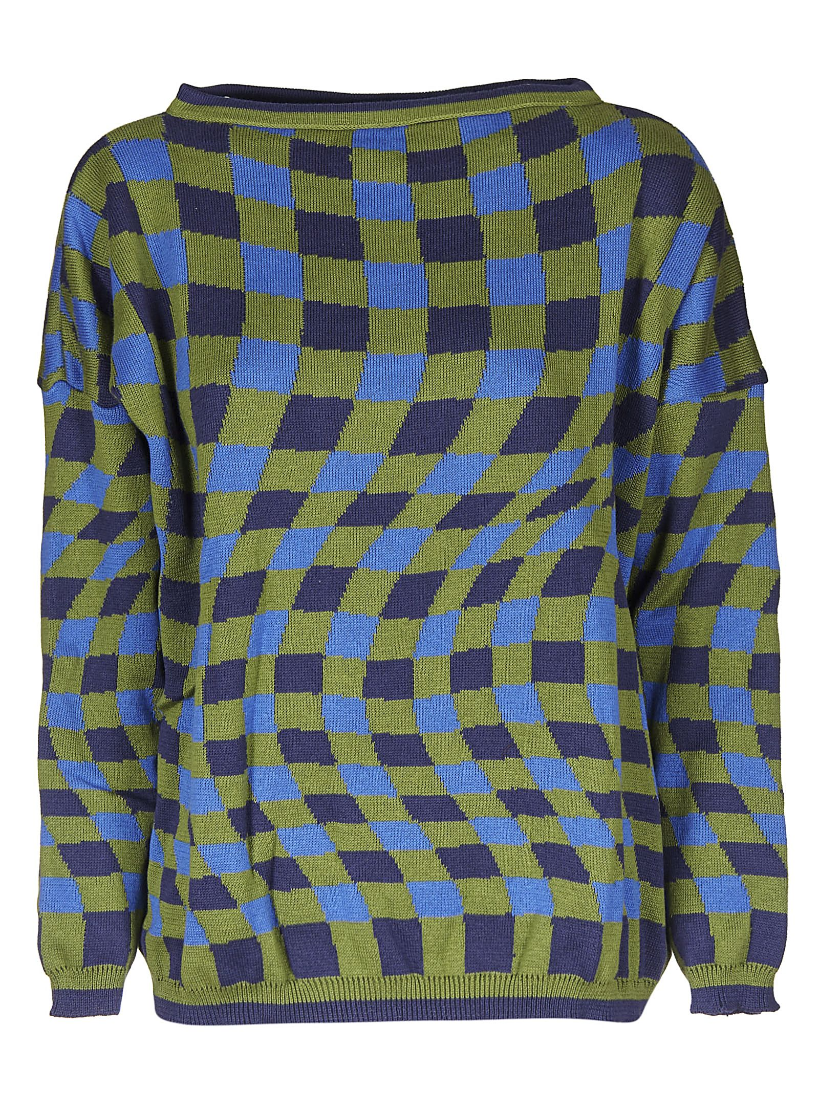 MOLLY GODDARD Checked Sweater in Blue