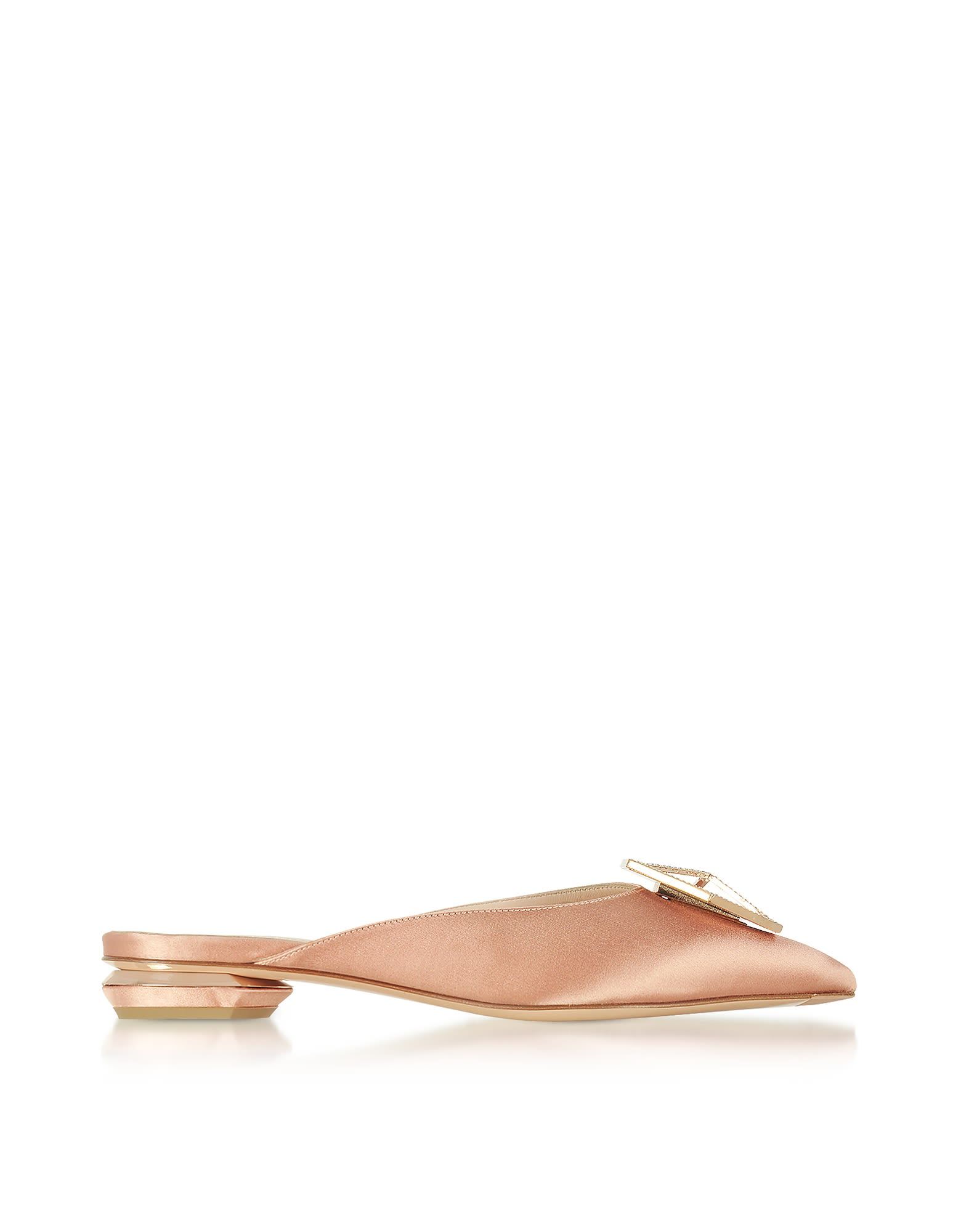 Nicholas Kirkwood Designer Shoes, Eden Clay Satin Jewel Mule