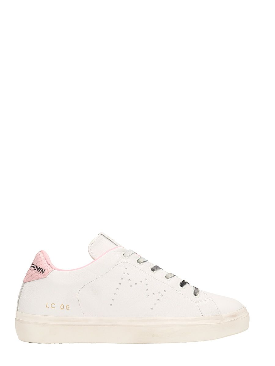 Leather Crown Low Wlc06 And Pink Leather Sneakers Buy Cheap Release Dates DyCmG
