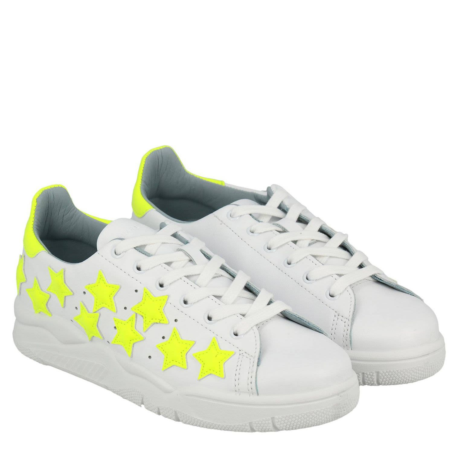 Top-Rated Clearance Shop Chiara Ferragni Sneakers Roger Sneakers In Genuine Leather With Maxi Fluorescent Stars Clearance For Sale Ns4nbtX