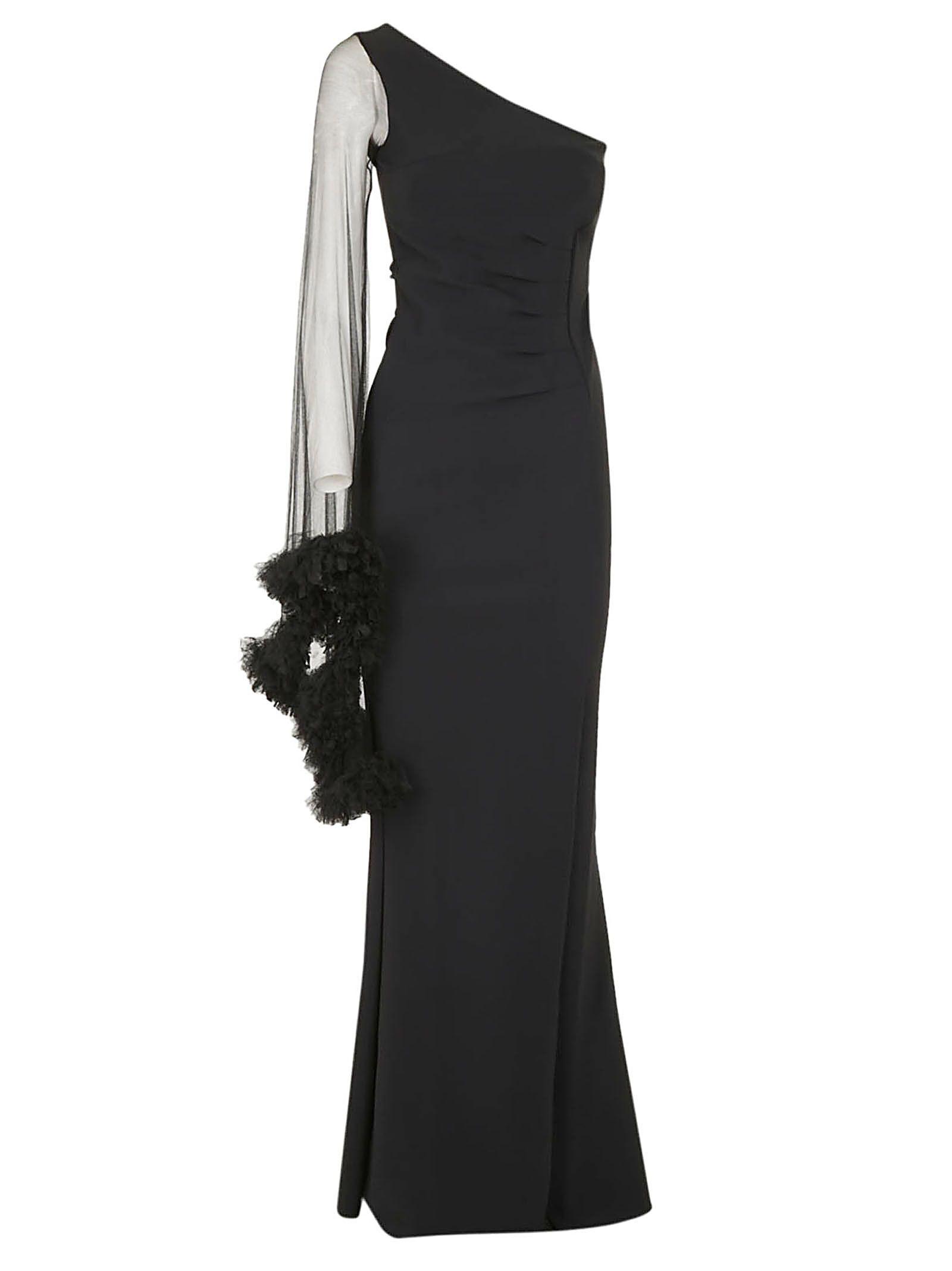 LA PETIT ROBE DI CHIARA BONI Cruz Long Dress in Black