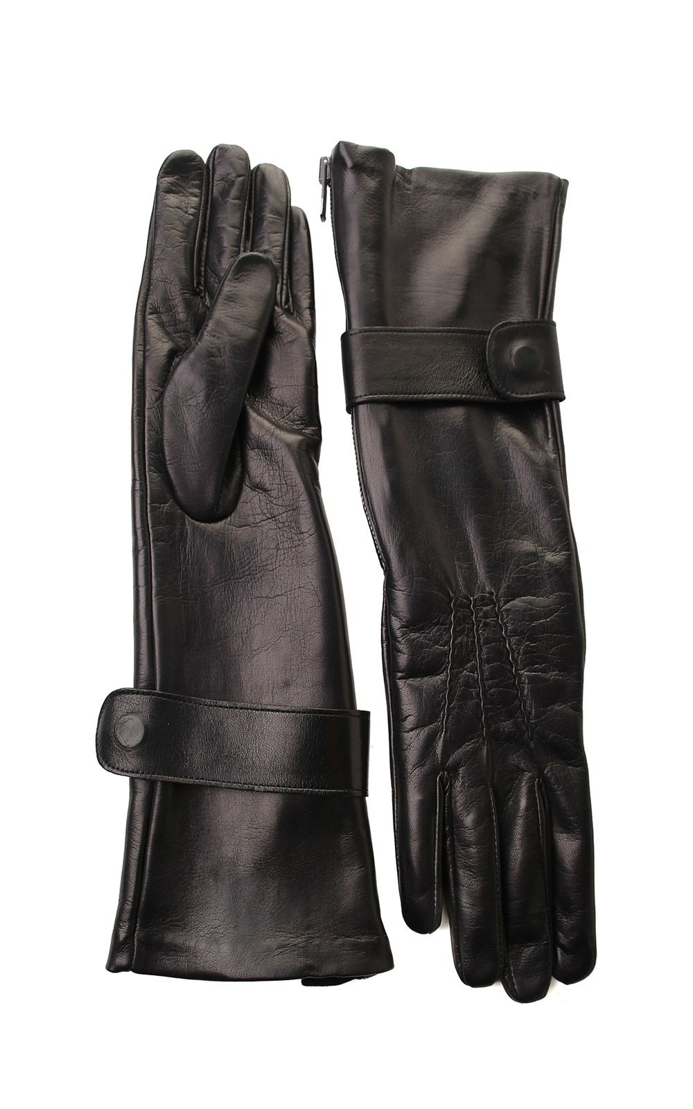 ZIPPED LEATHER GLOVES