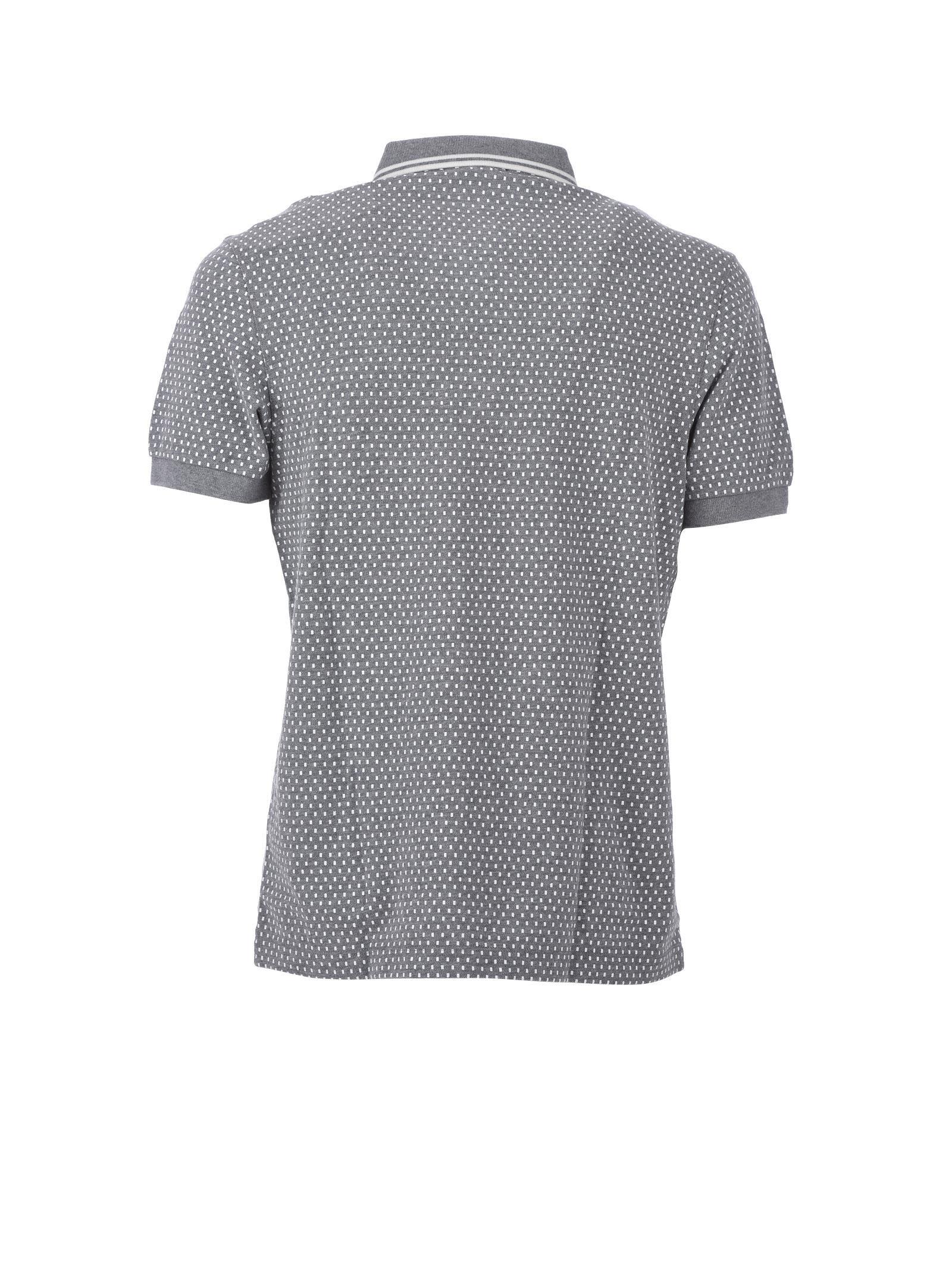 61148642 Mens Geometric Print Polo Shirt