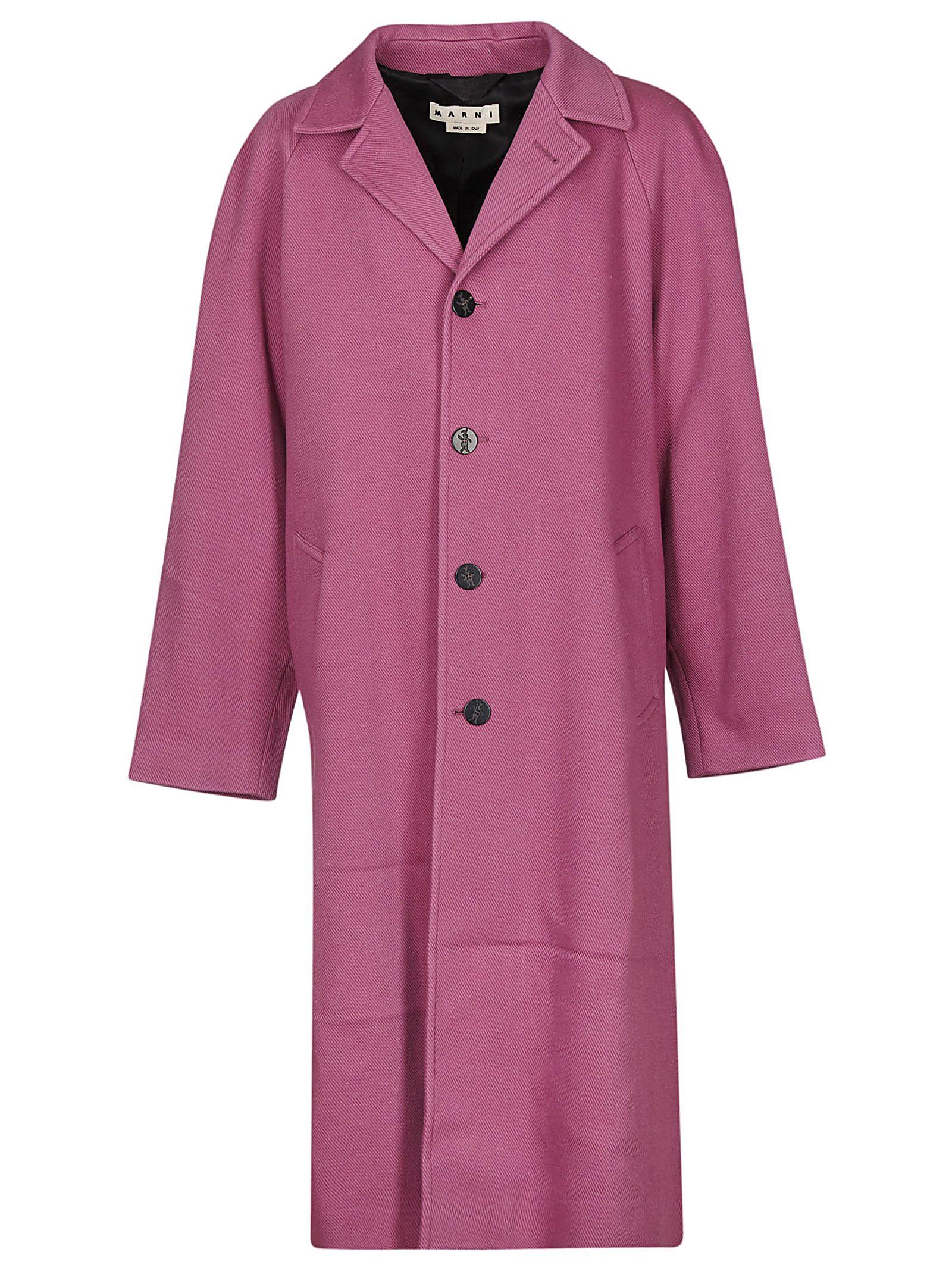 MARNI Buttoned Coat, Viola