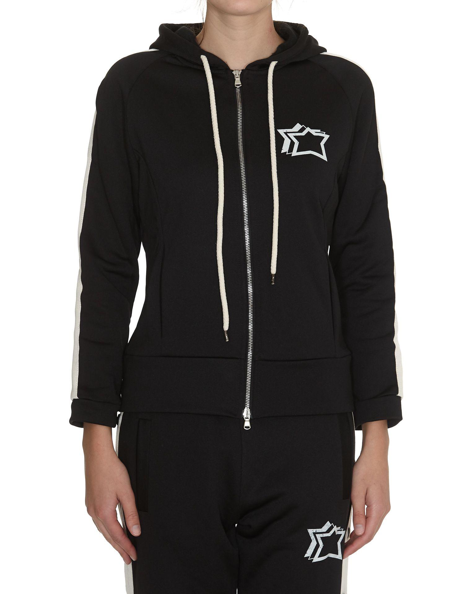 ATLANTIC STARS Hooded Sweatshirt in Black