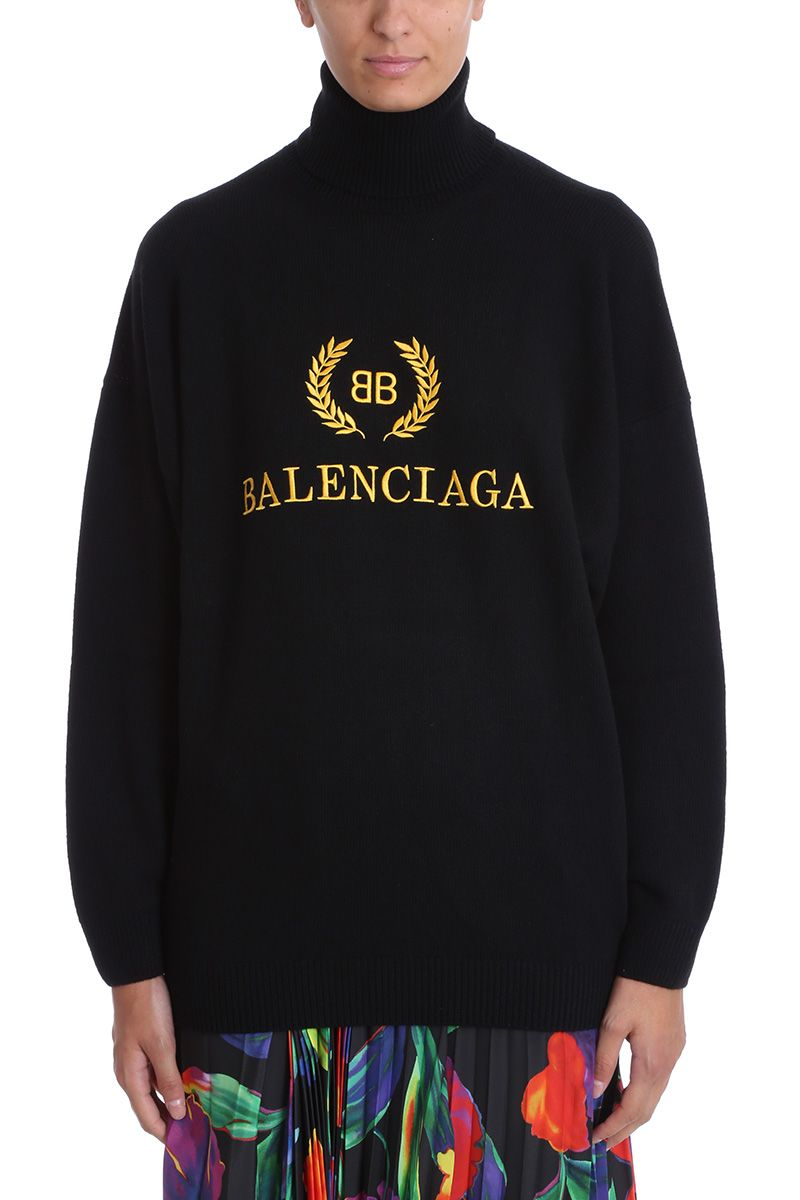 balenciaga -  Bb  Logo Knitwear Sweater