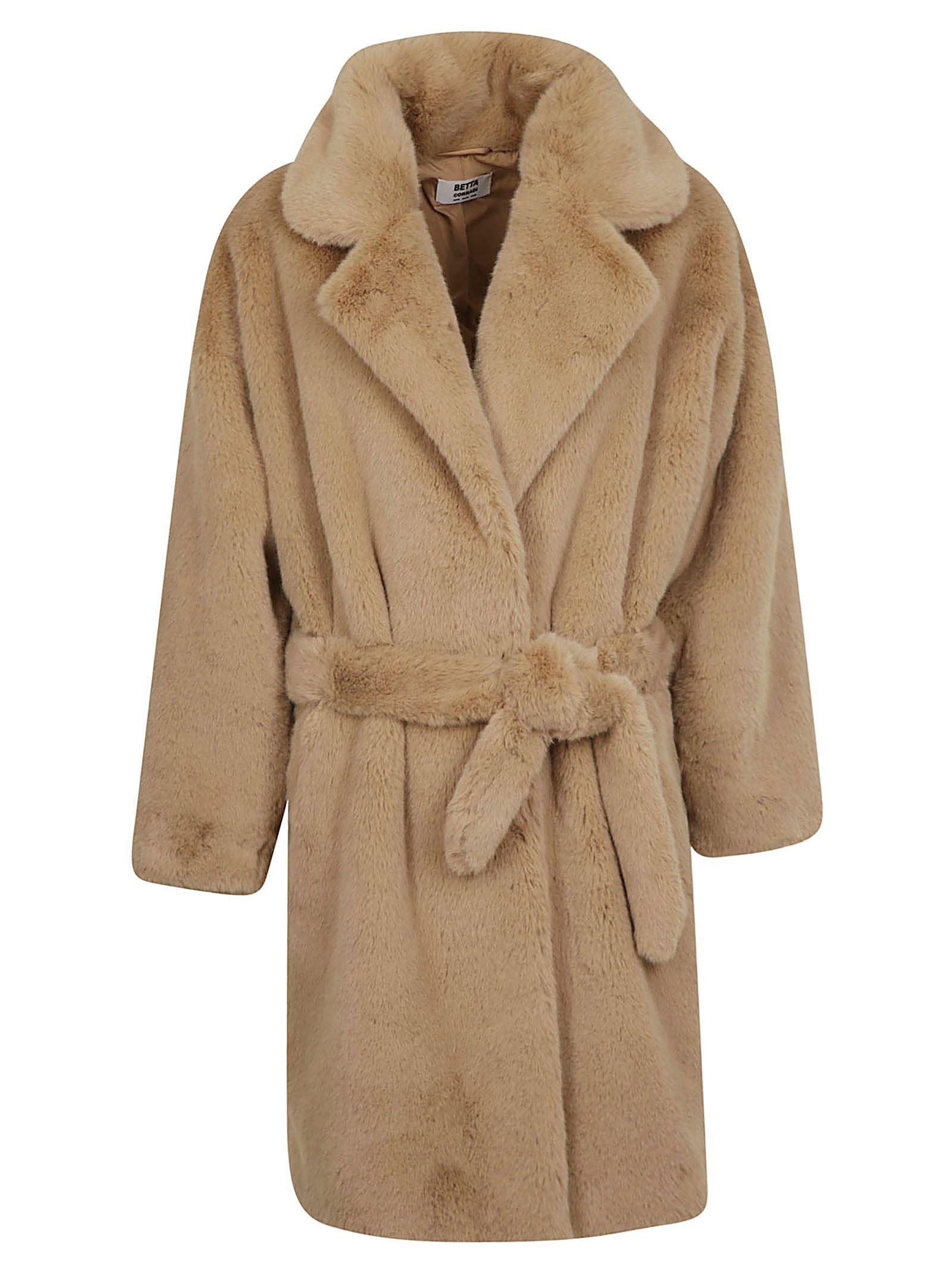 BETTA CORRADI Belted Coat in Cammello
