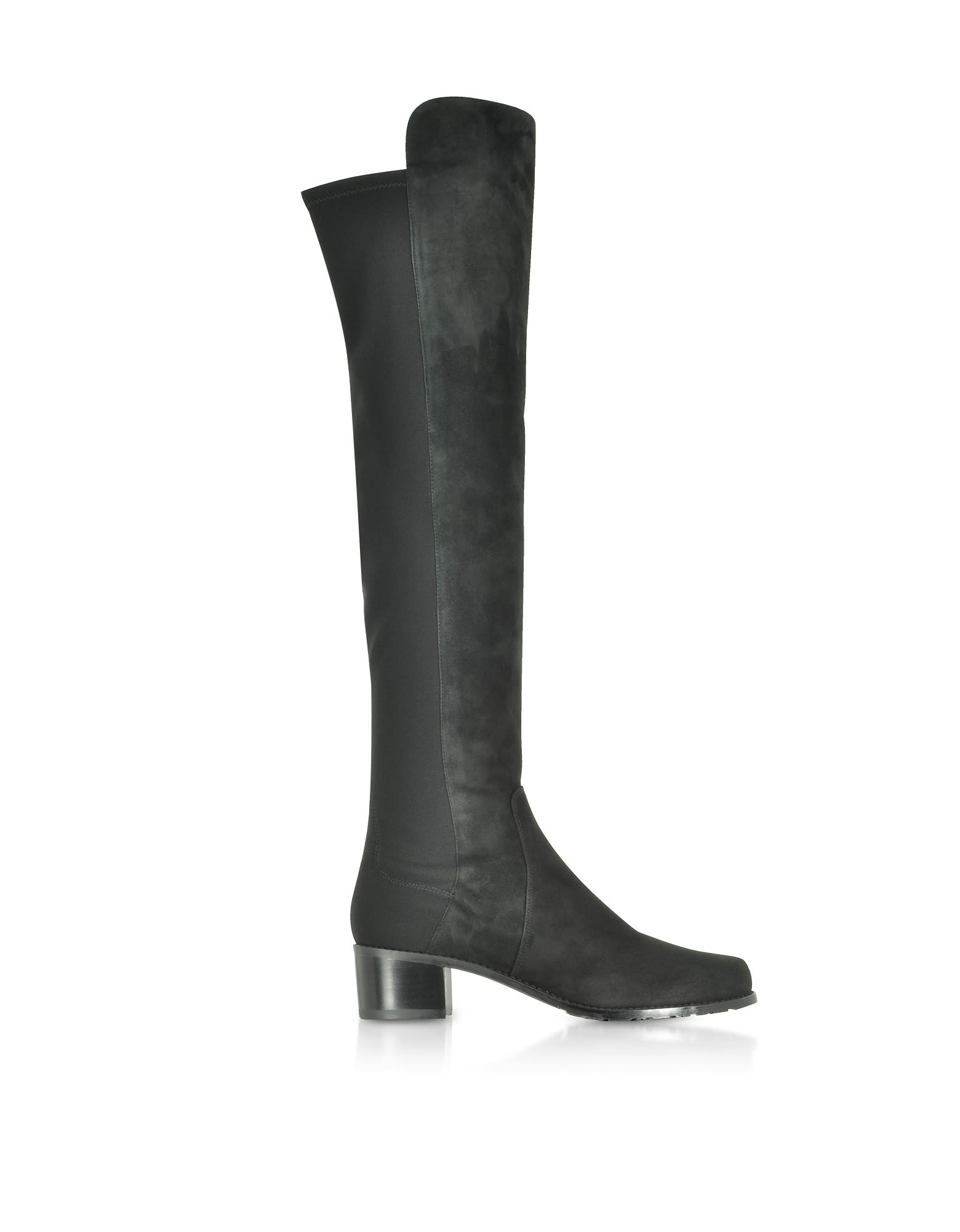 Helena 95 Asphalt Fushion Suede Boots in Graphite