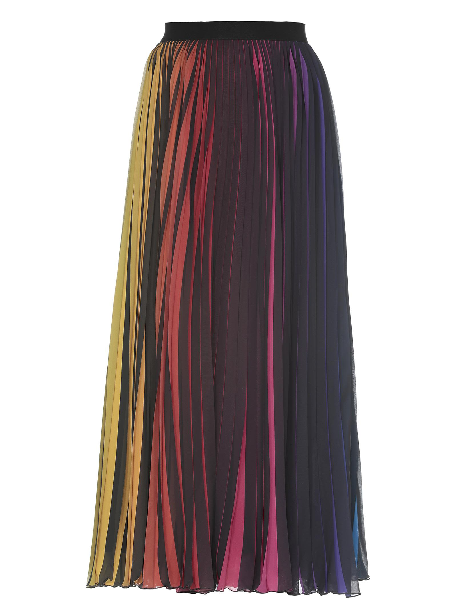 Marcelo Burlon County Of Milan PLEATED LONG SKIRT