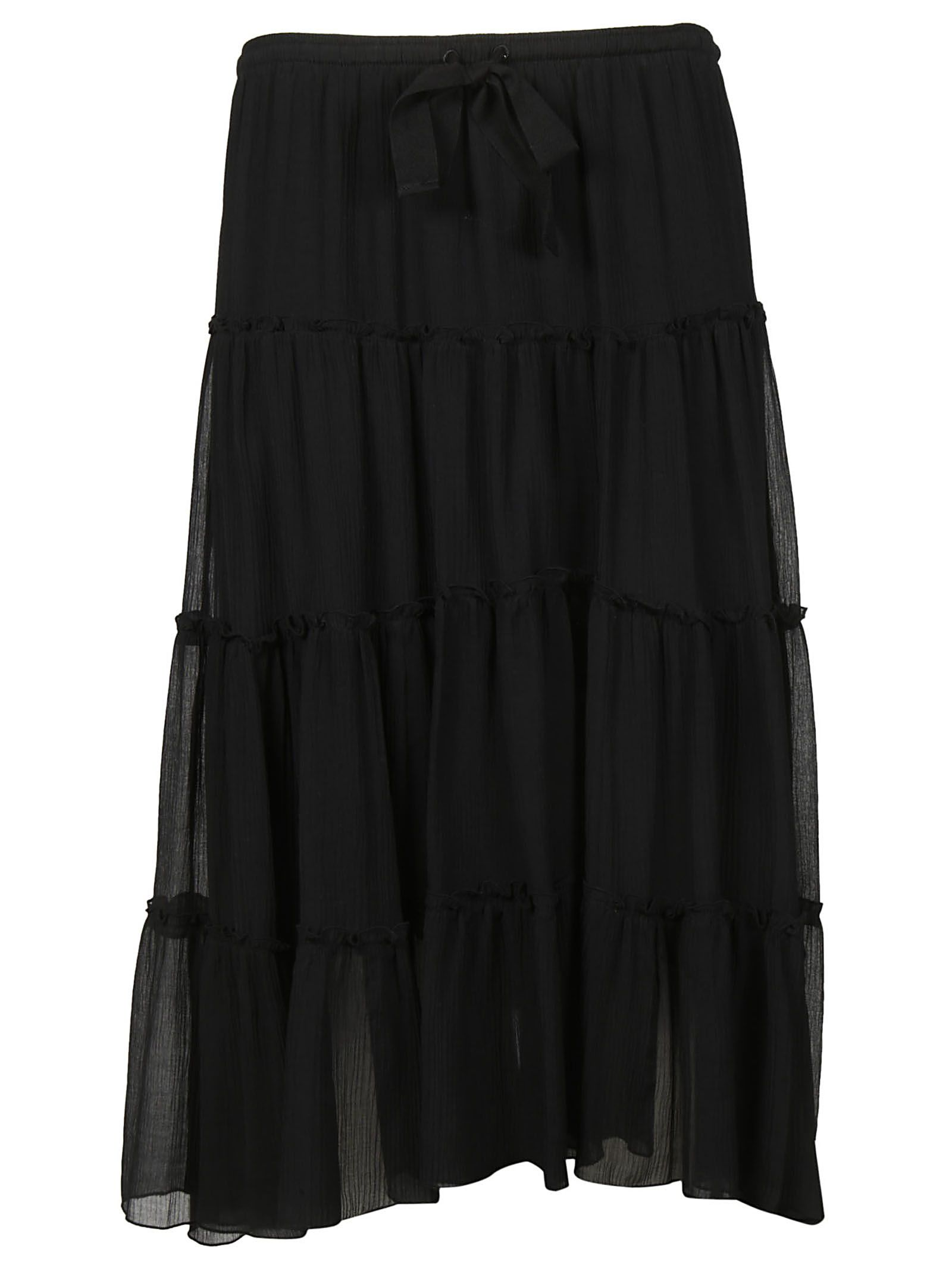 See By Chloã© Tiered Midi Skirt 10583518