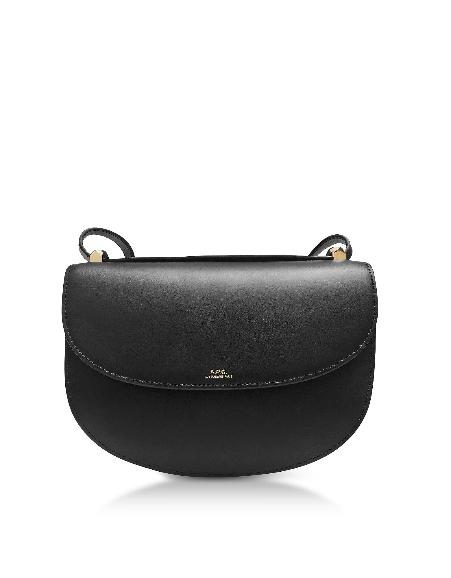 Genève Cross-Body Leather Bag in Black