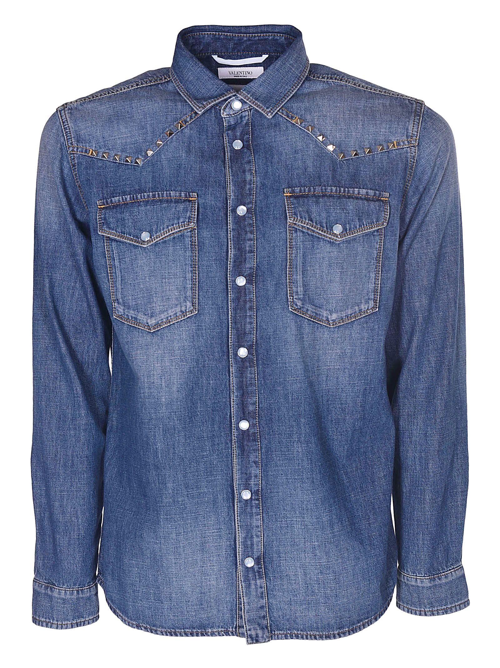 Valentino Studded Jeans Shirt 10608409